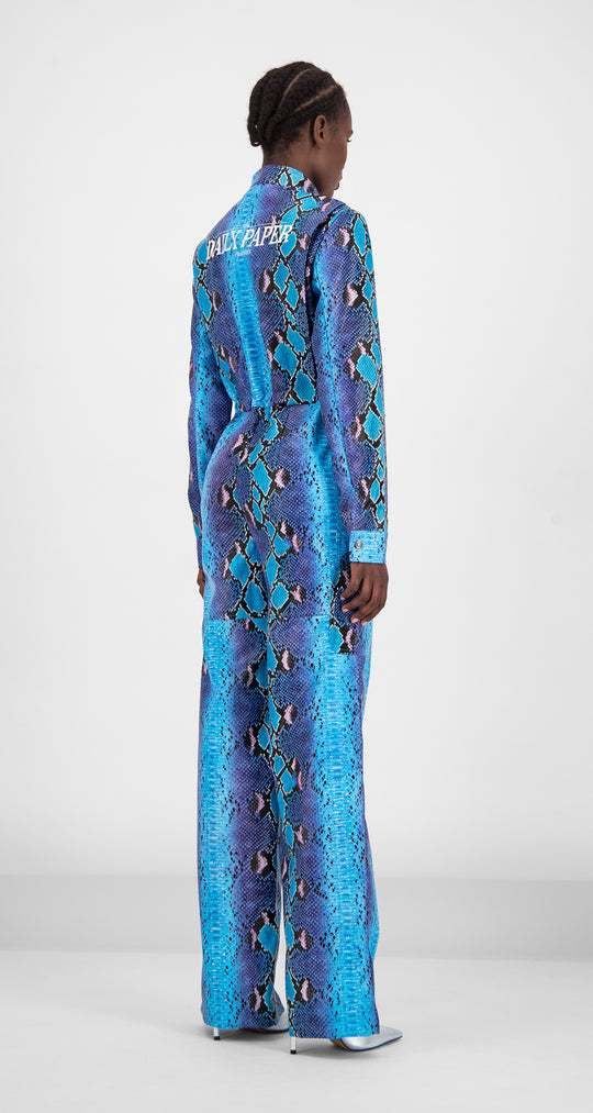 Daily Paper - Blue Snake Gree Jumpsuit Women Rear