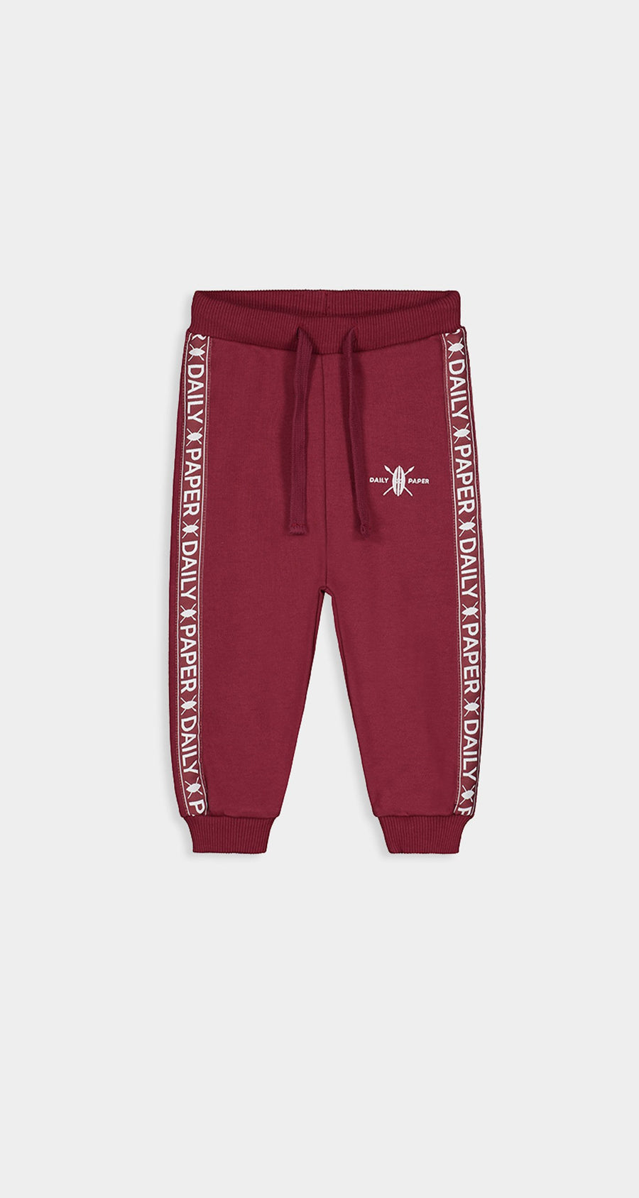 Daily Paper - Bordeaux Kids Tape Logo Track Pants Front