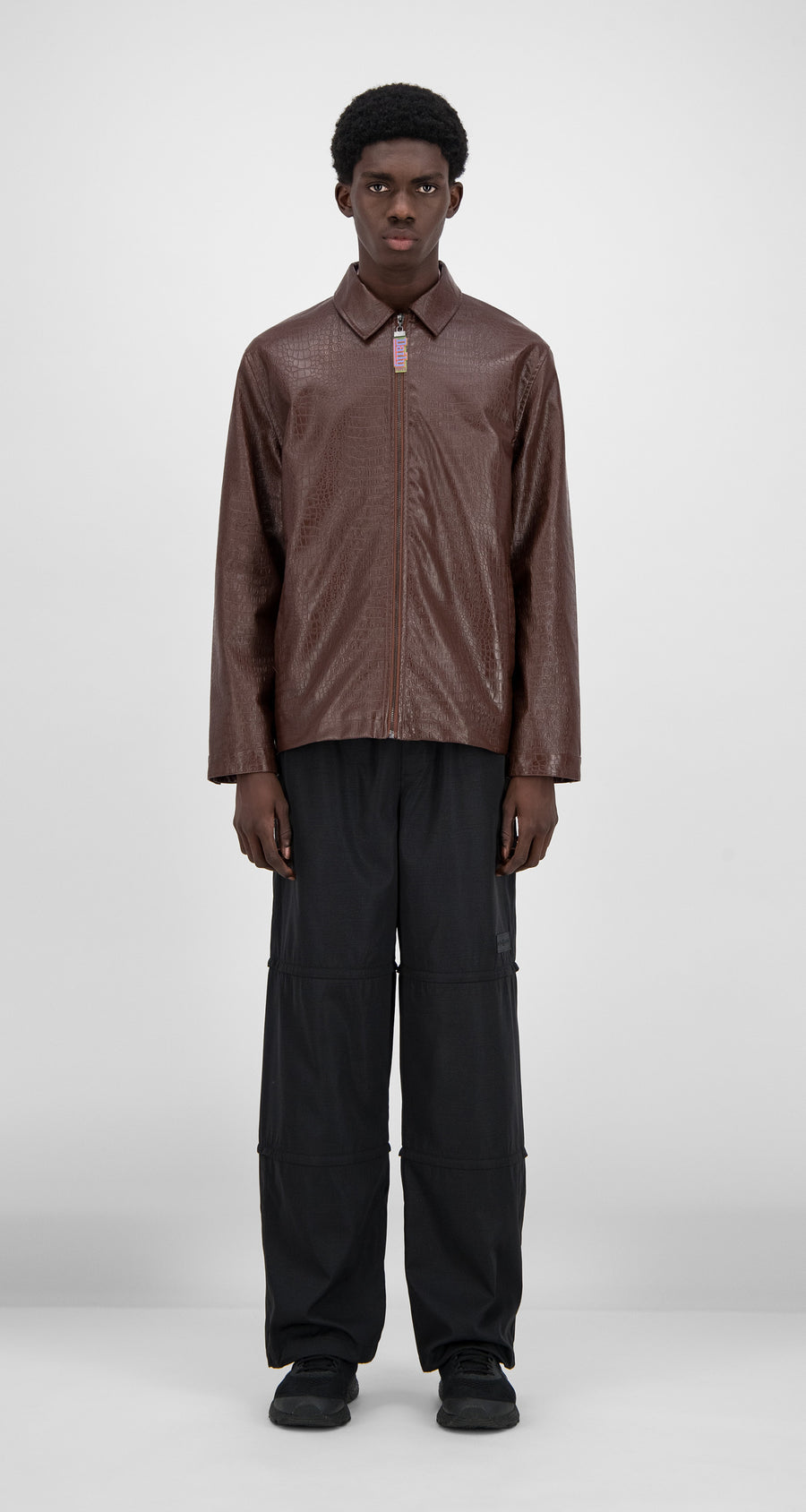 Daily Paper - Brown Croco Hargo Jacket - Men Front