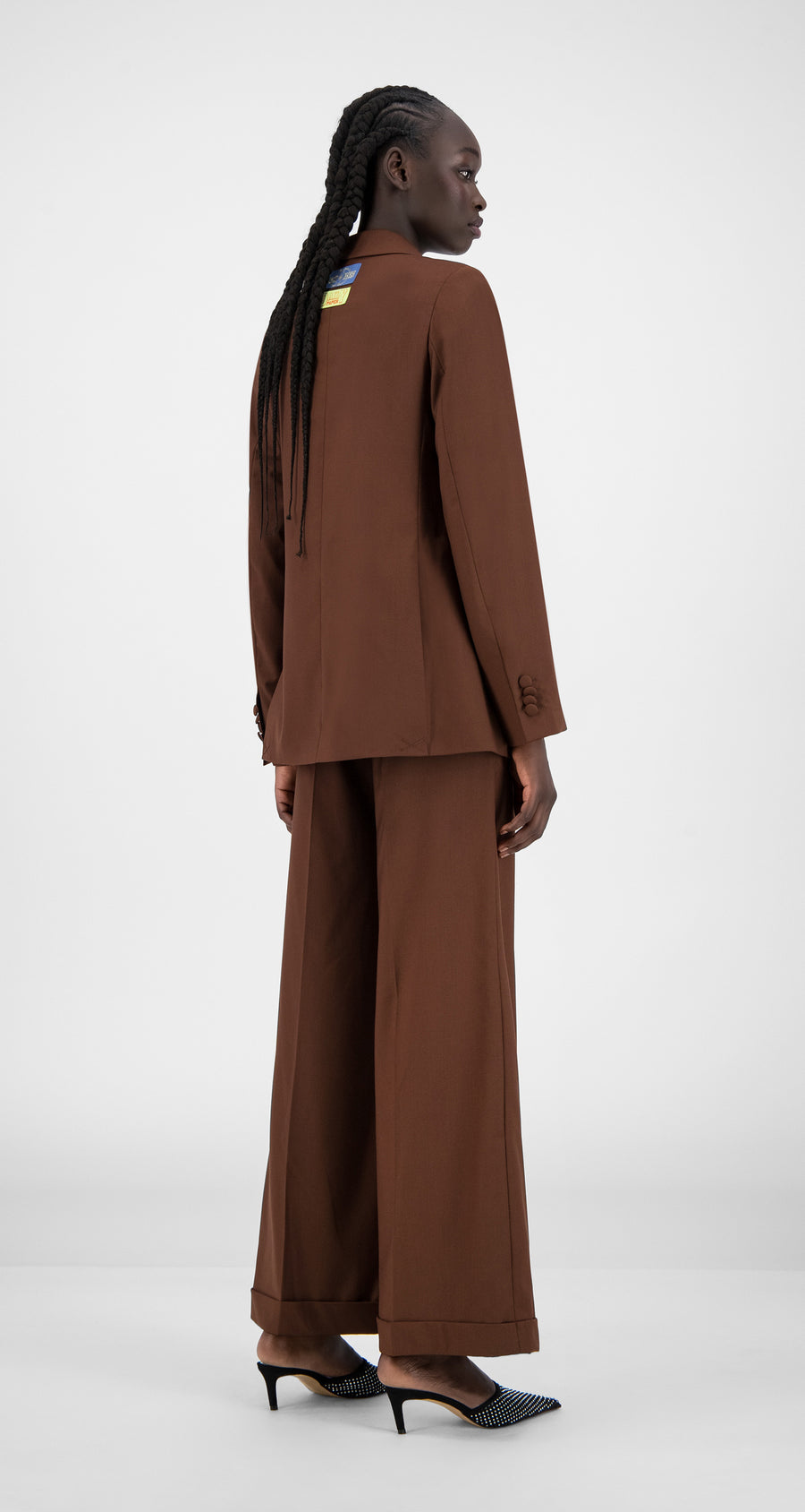 Daily Paper - Brown Hasina Blazer - Women Rear