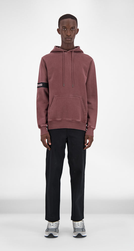 Burgundy Washed Captain Hoody - Men Front
