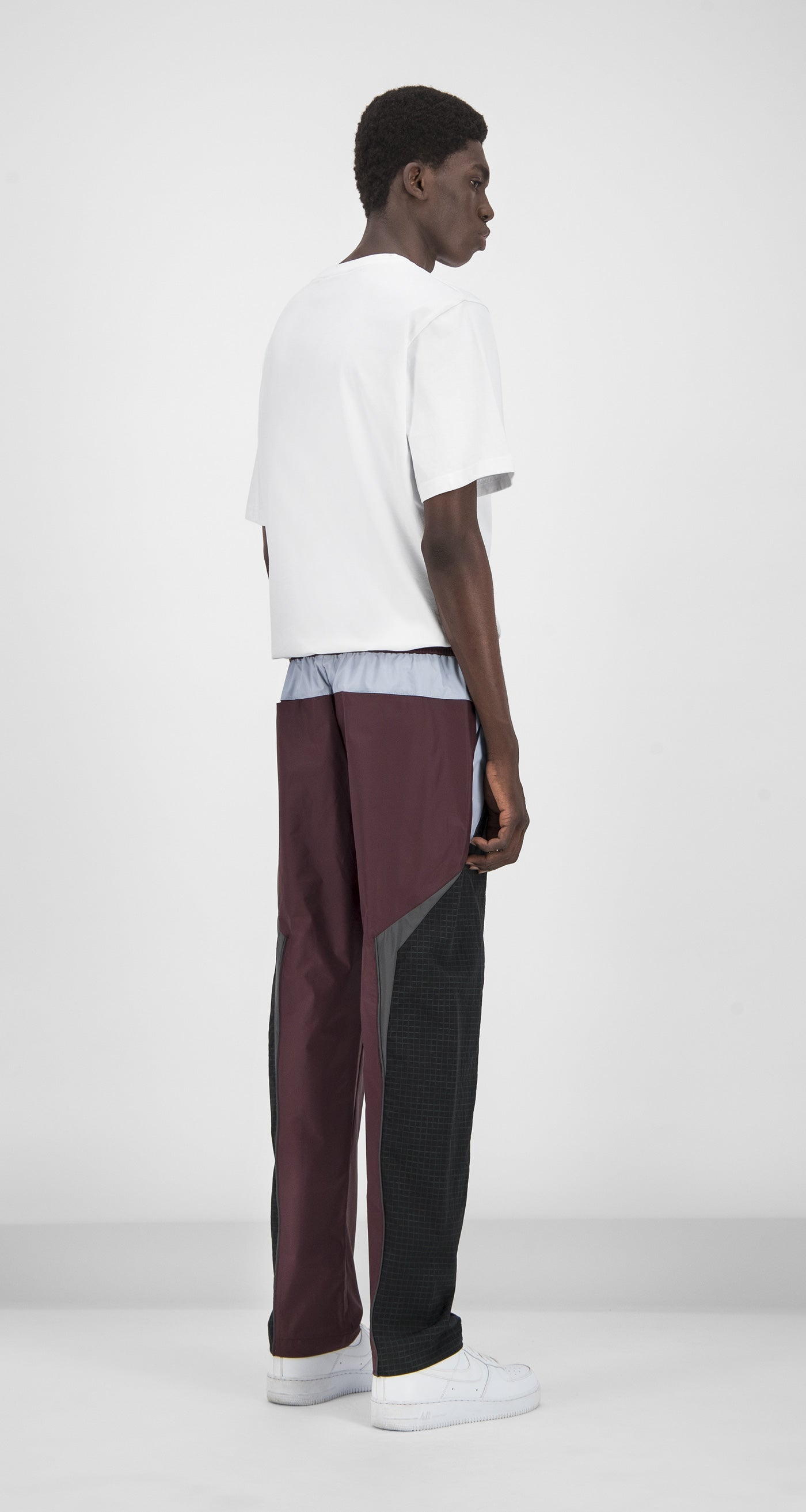 Daily Paper - Burgundy Reflective Guka Pants Men Rear