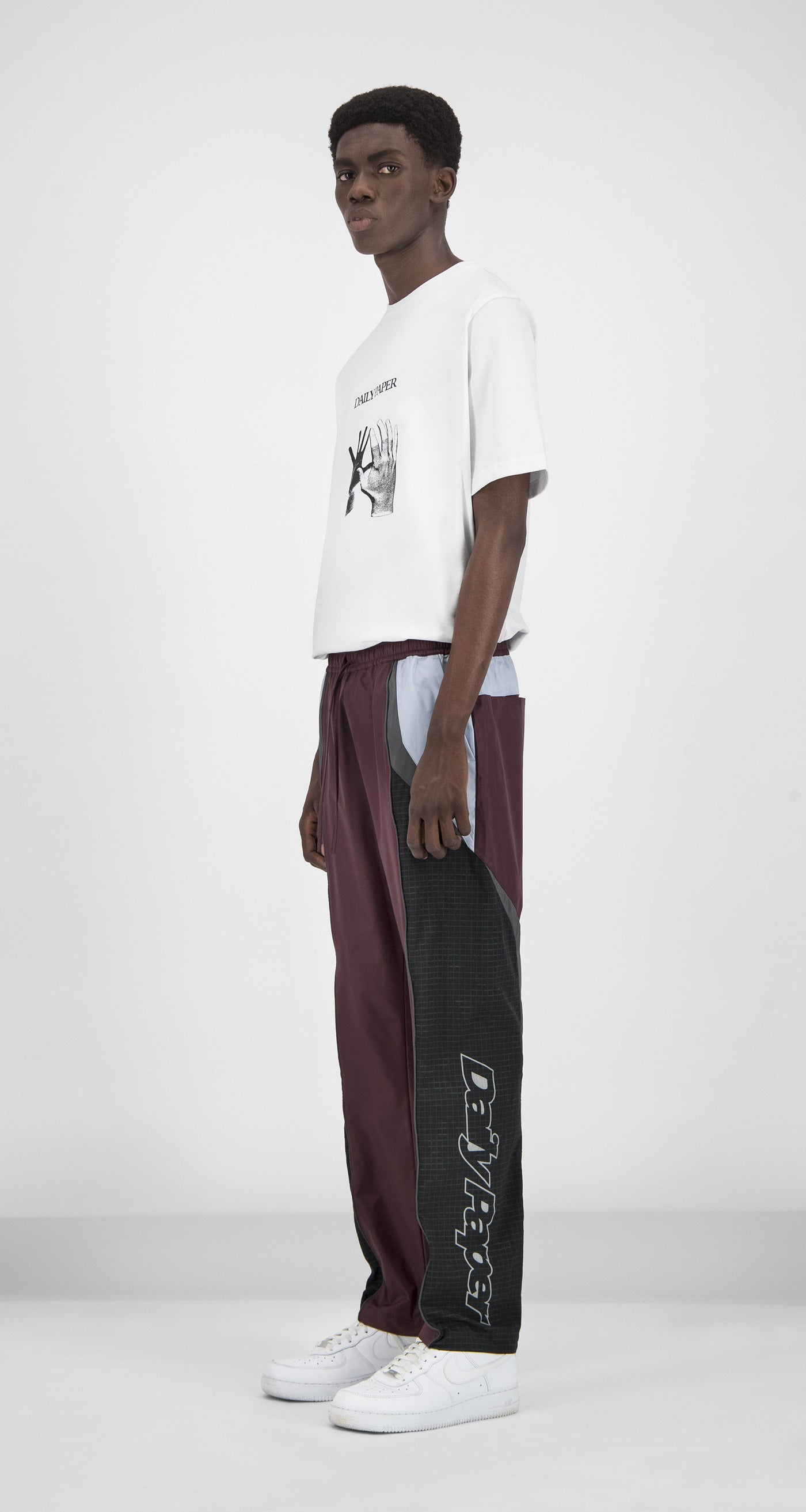 Daily Paper - Burgundy Reflective Guka Pants Men