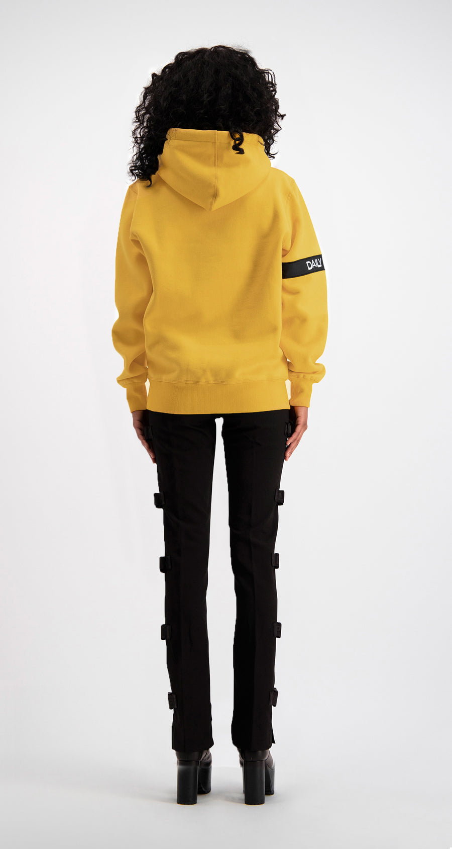 Daily Paper - Yellow Captain Hoody Women Rear