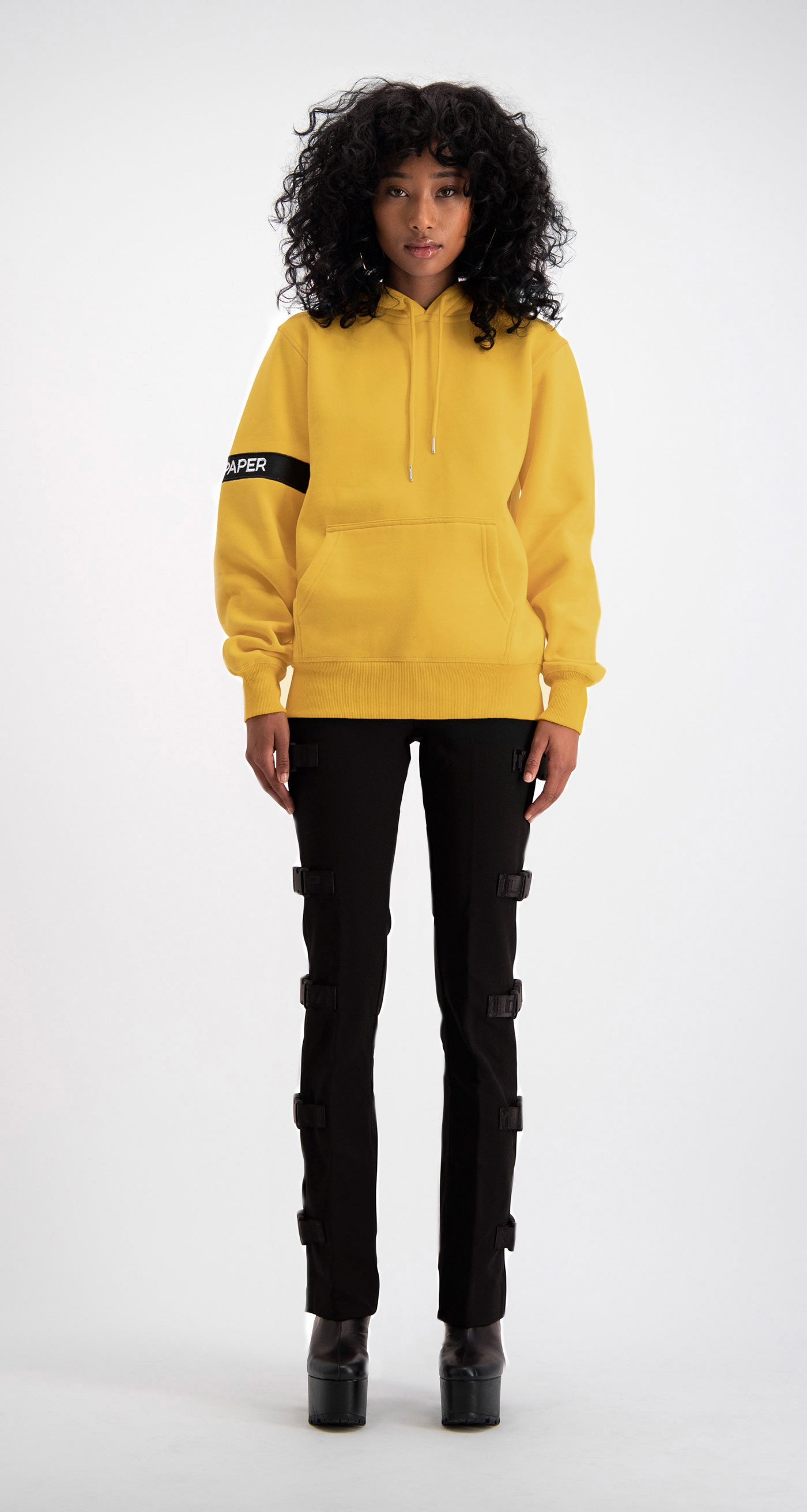 Daily Paper - Yellow Captain Hoody Women Front