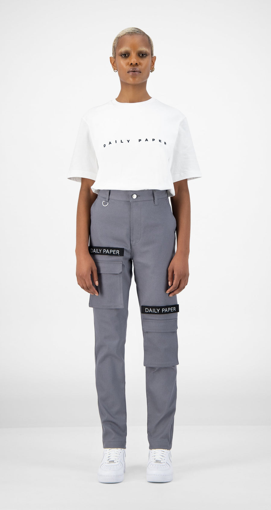 Daily Paper - Cargo Pants Grey Women Front