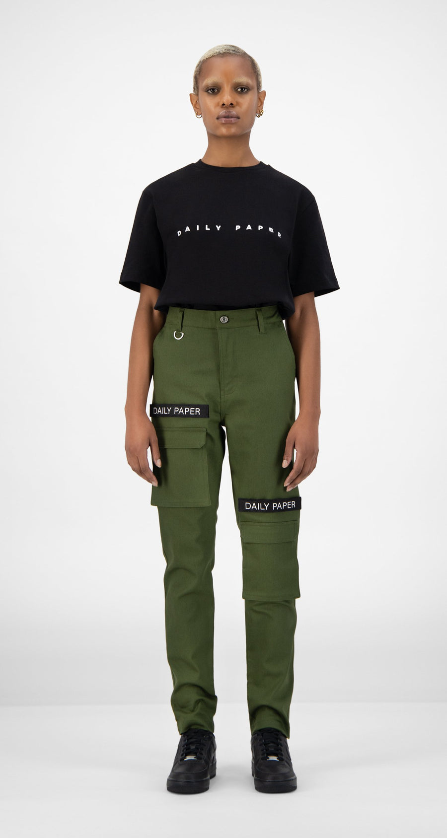 Daily Paper - Cargo Pants Olive Green Women Front