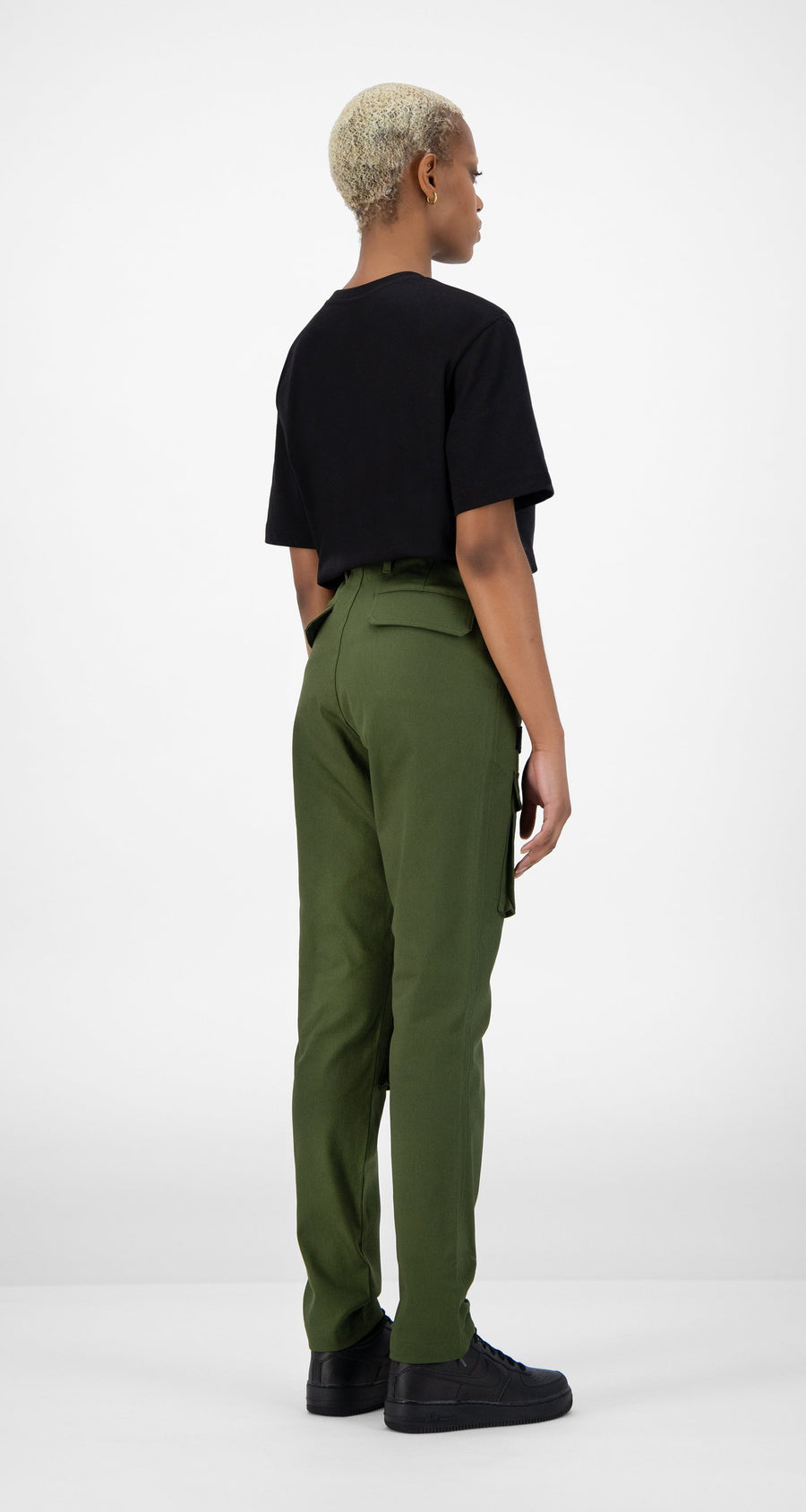 Daily Paper - Cargo Pants Olive Green Women Rear