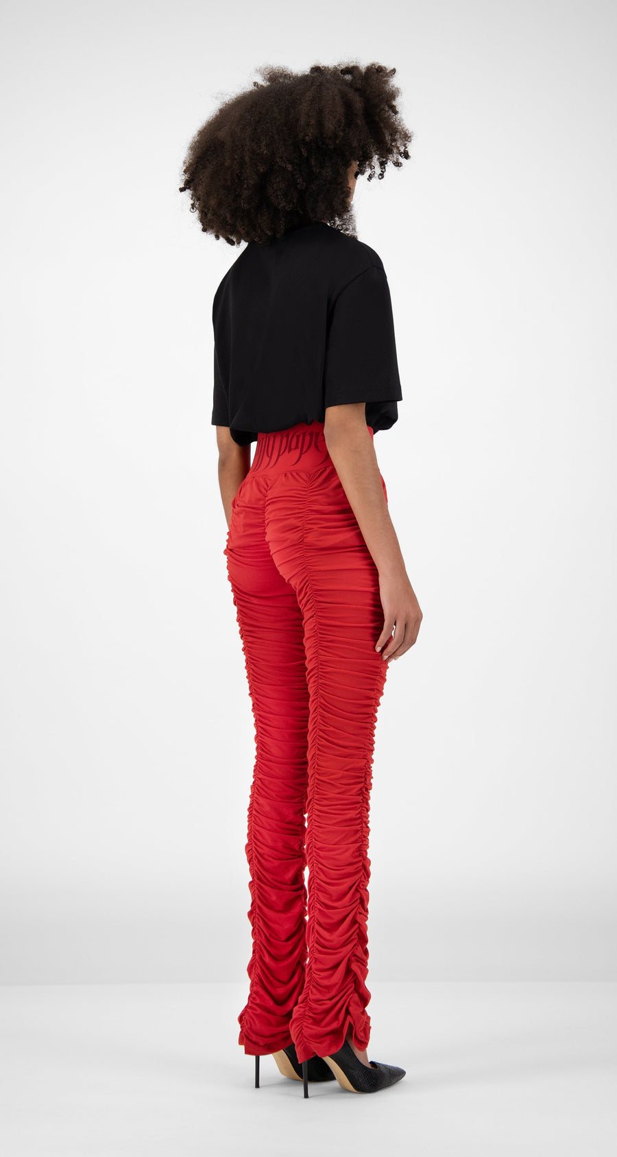 Daily Paper - Chili Red Honai Pants - Women Rear