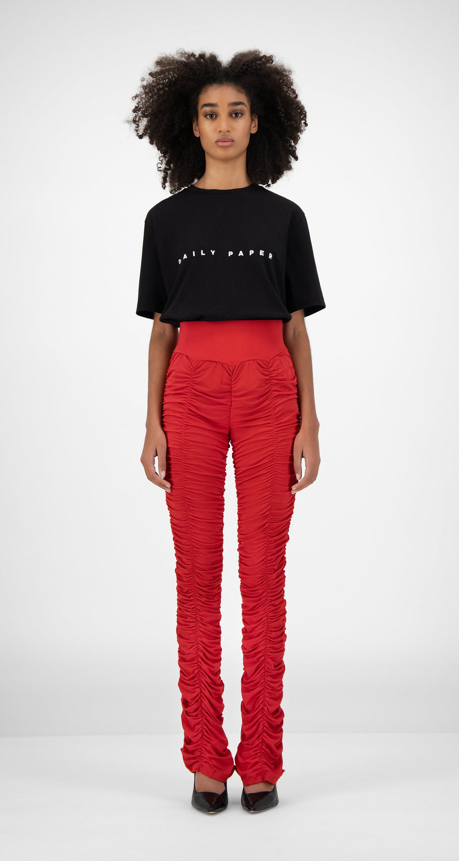 Daily Paper - Chili Red Honai Pants - Women Front