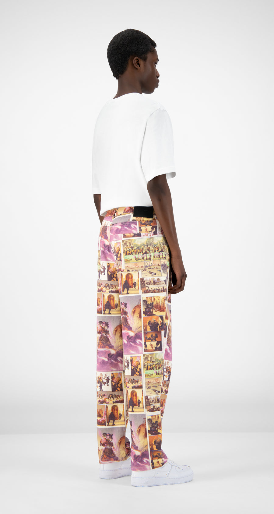 Daily Paper - Comic Print Jazeb Pants - Men Rear