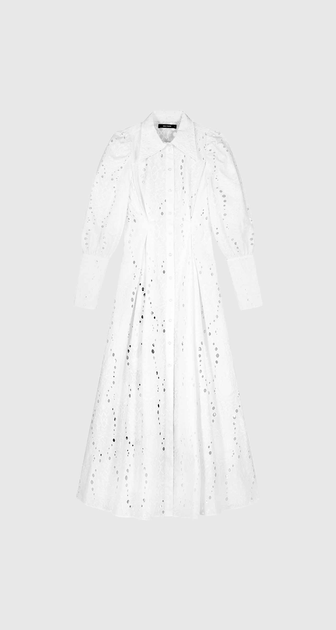 Daily Paper - White Kiki Lace Dress - Women Front