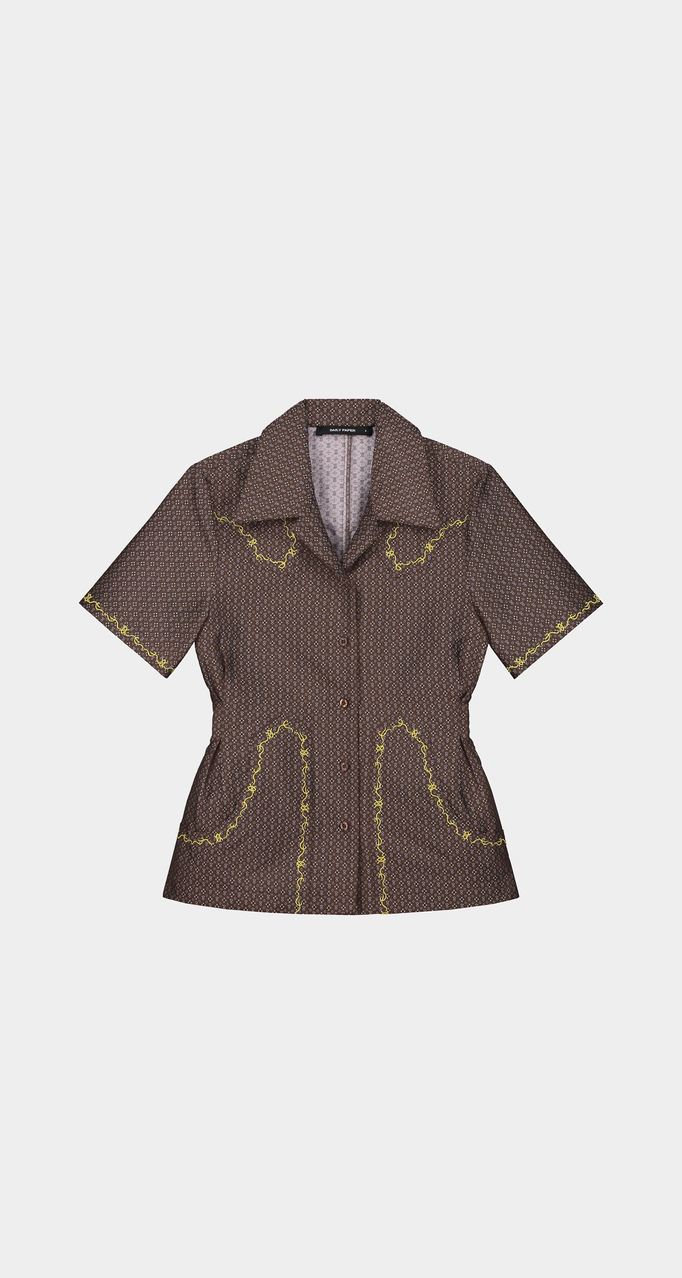 Daily Paper - Brown Krysia shirt - Women Front