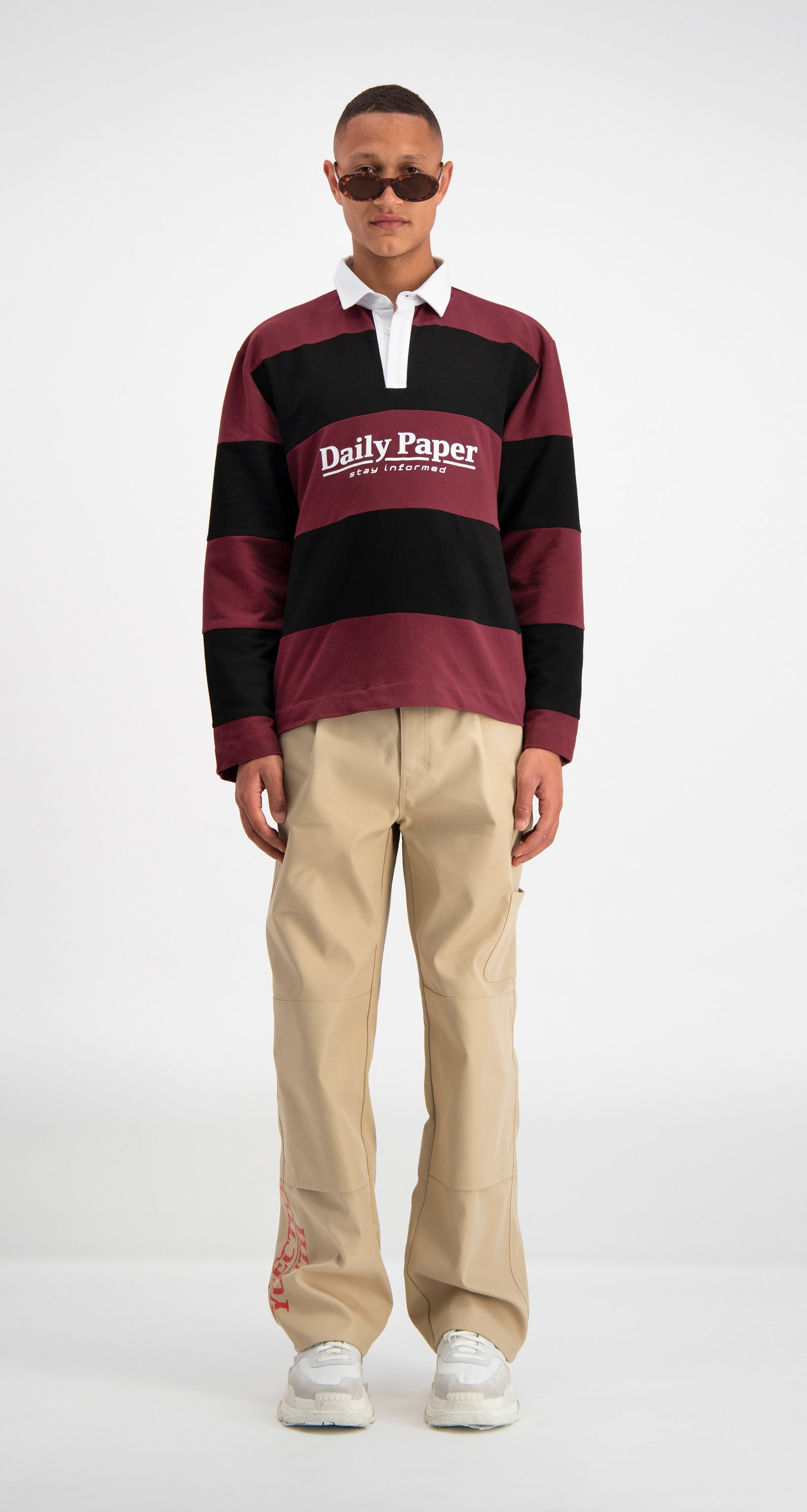 Red Striped Droke Longsleeve