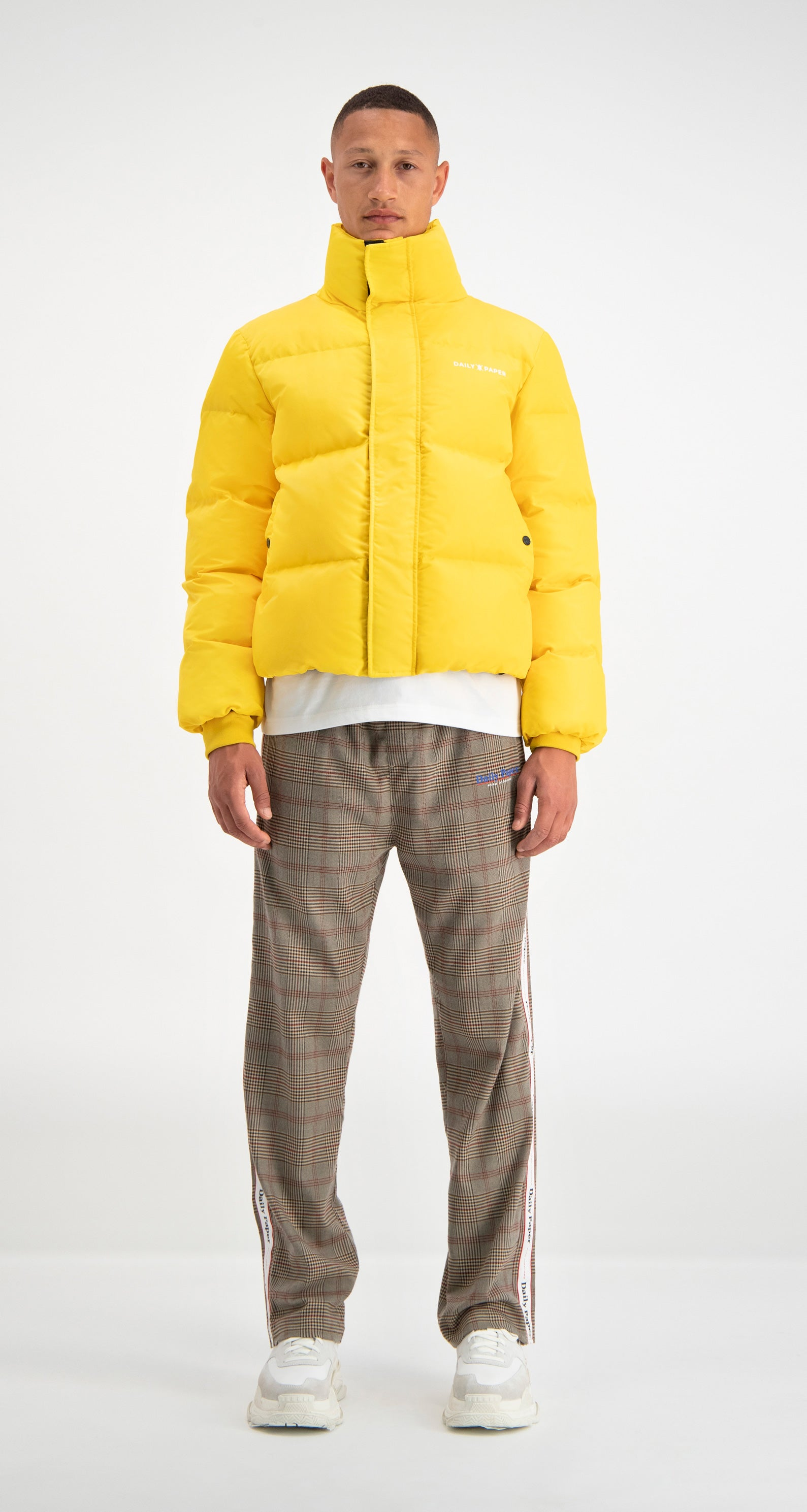All Page 2 Daily Paper Jaket Hoodie Pewdiepie Navy Yellow Puffer Jacket
