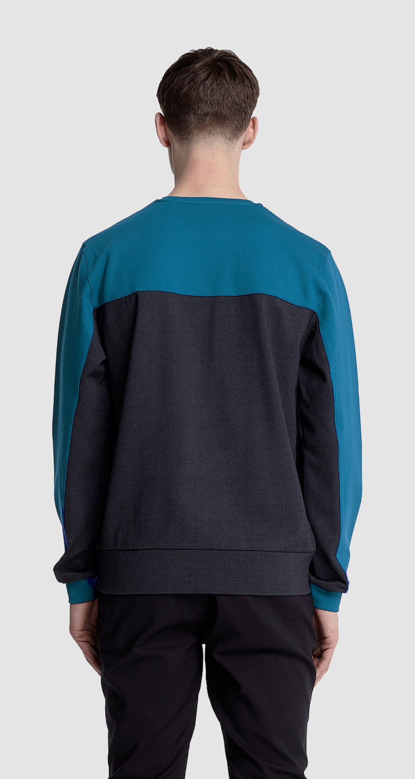 Navy Panel Sweater