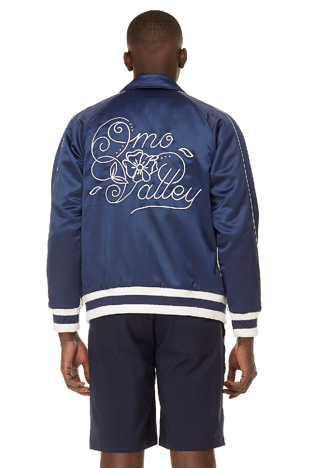 Satin Omo Valley Varsity Jacket