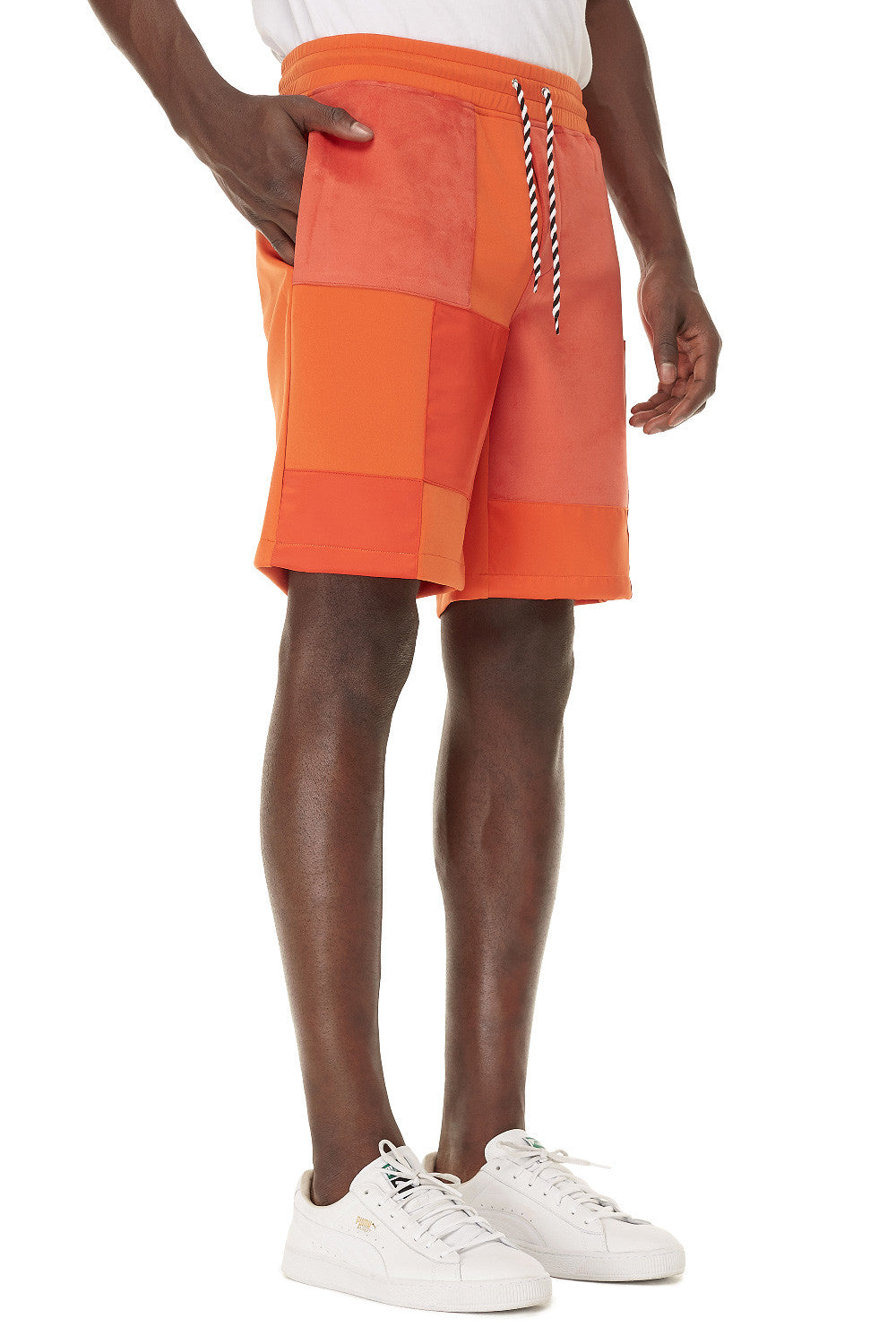 Orange Patchwork Short