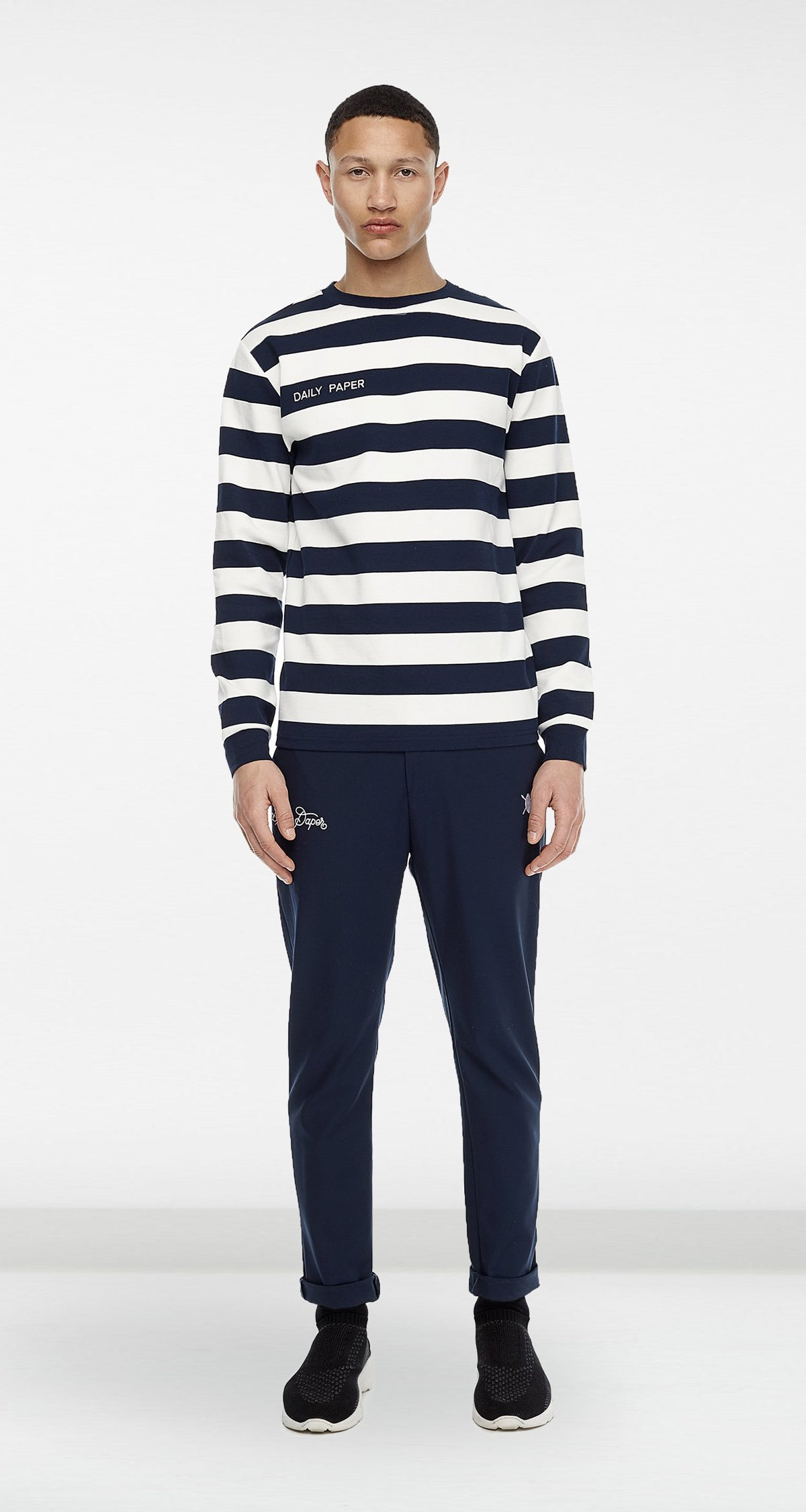 Daily Paper - Navy Striped Longsleeve Men
