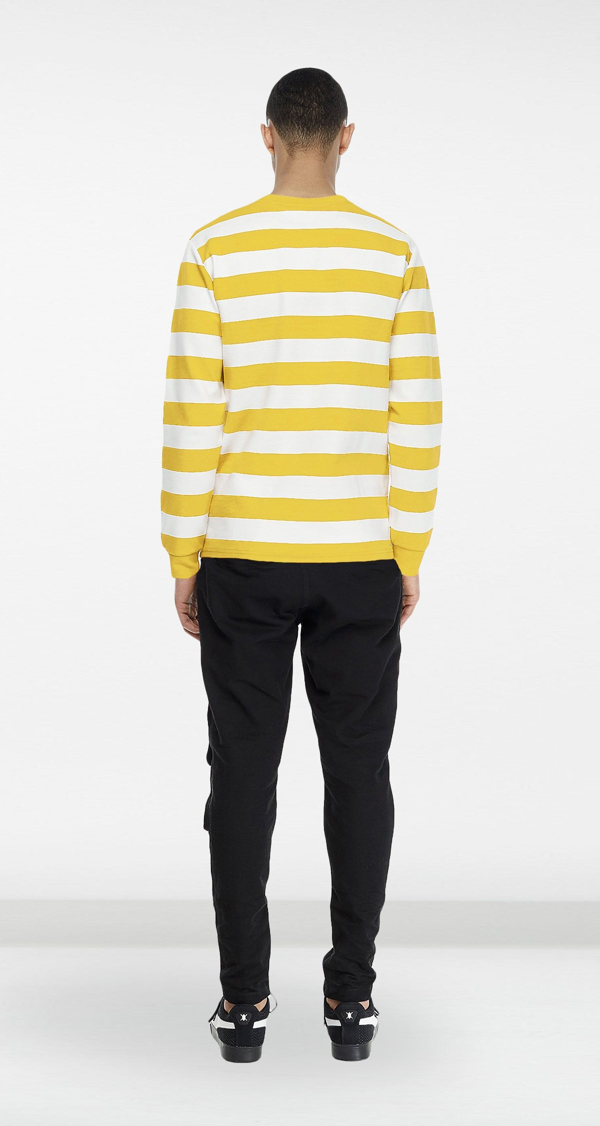 Daily Paper - Yellow Striped Longsleeve Men Rear