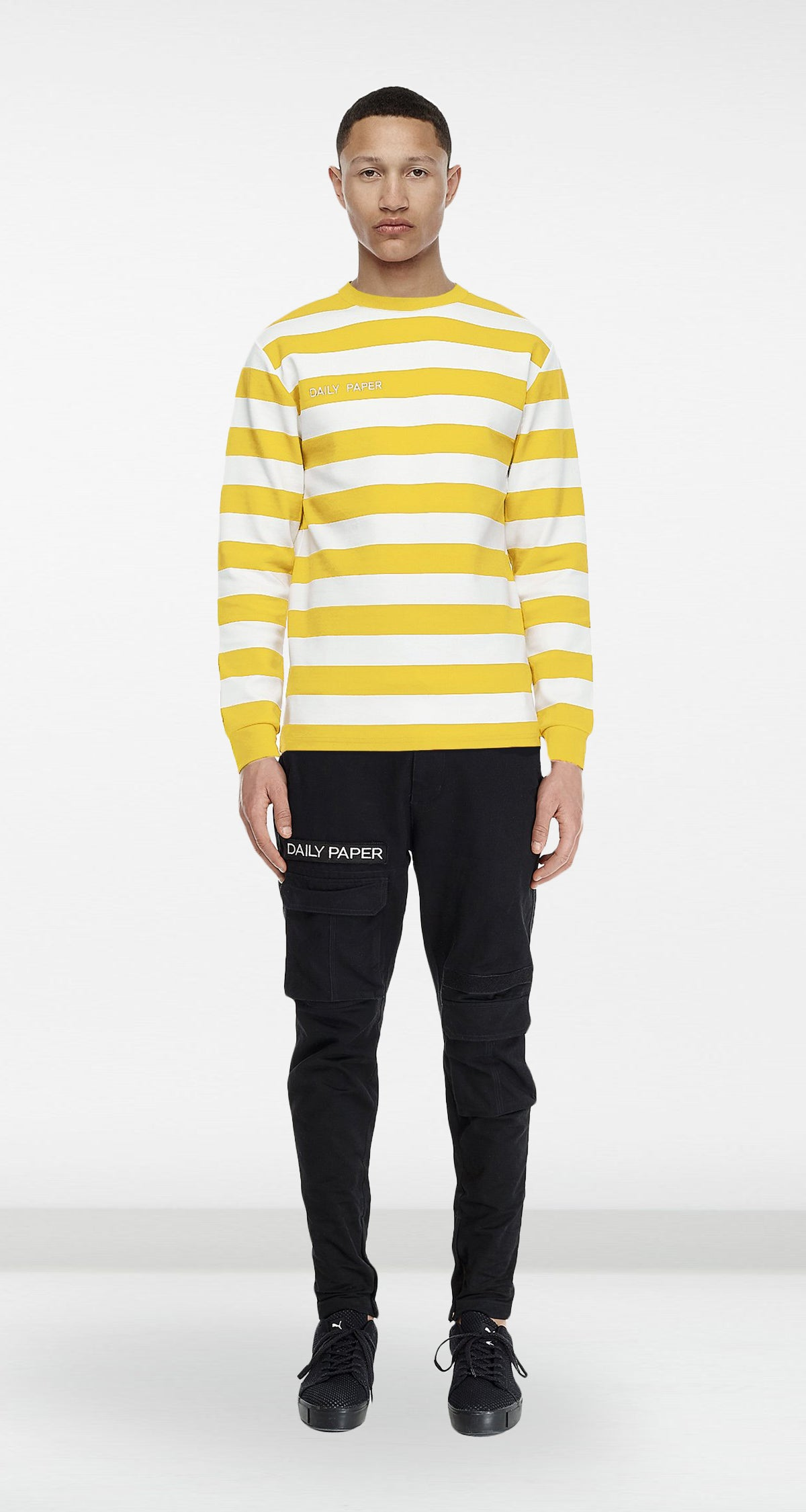 Daily Paper - Yellow Striped Longsleeve Men