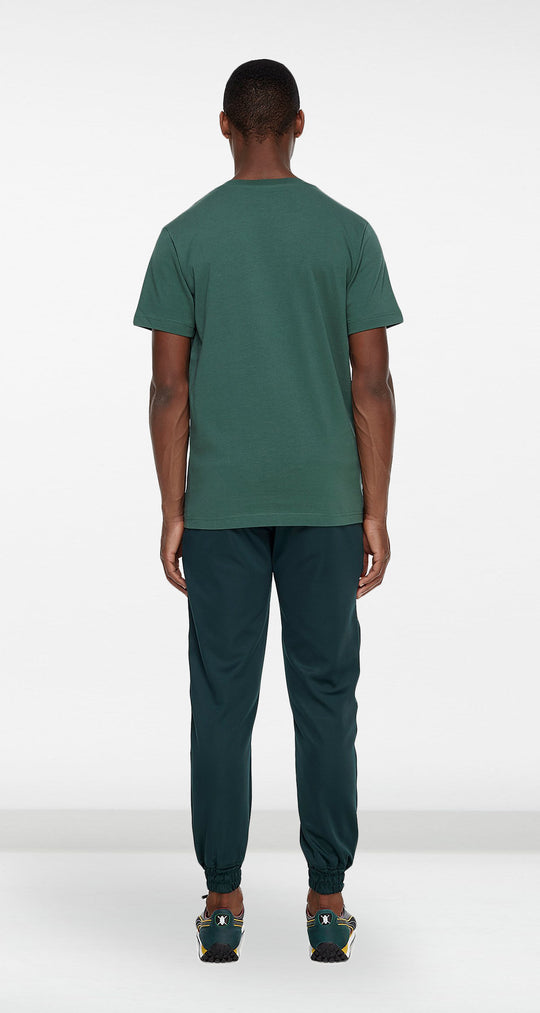 Daily Paper - Dark Green Arc Logo T-shirt Men Rear