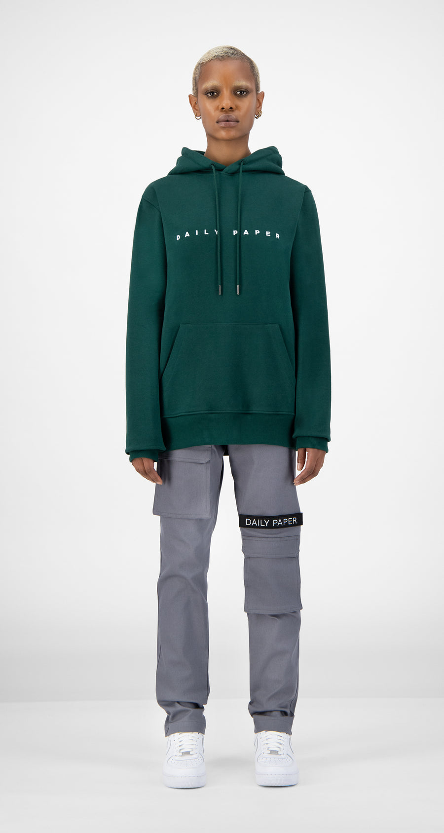 Daily Paper - Dark Green Alias Hoody Women Front