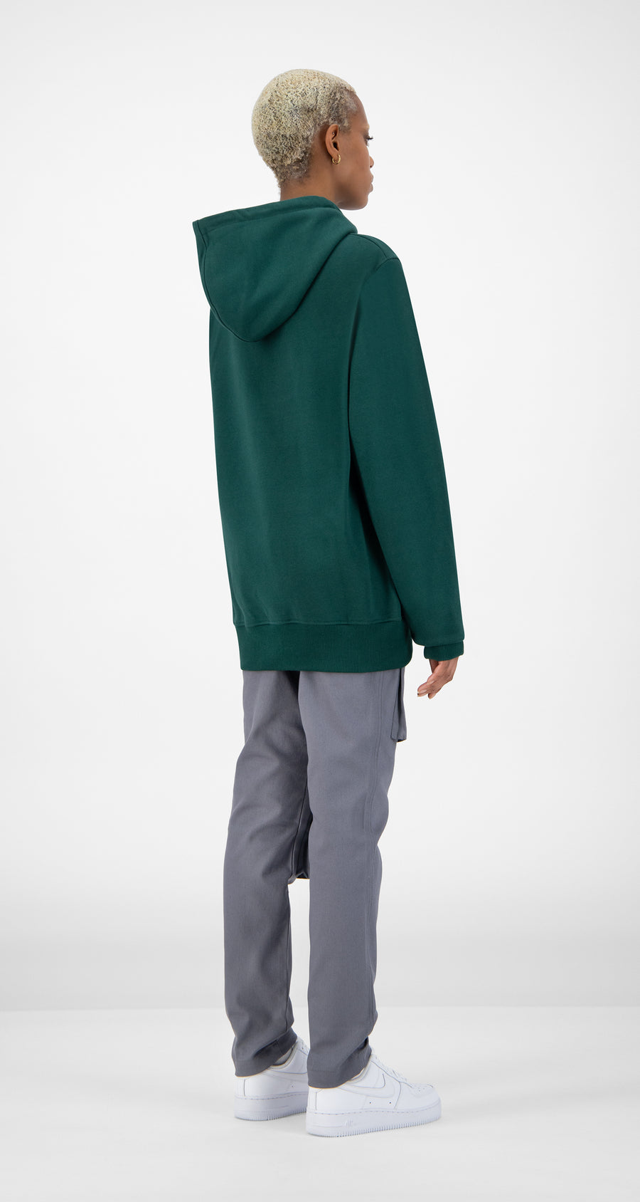 Daily Paper - Dark Green Alias Hoody Women Rear