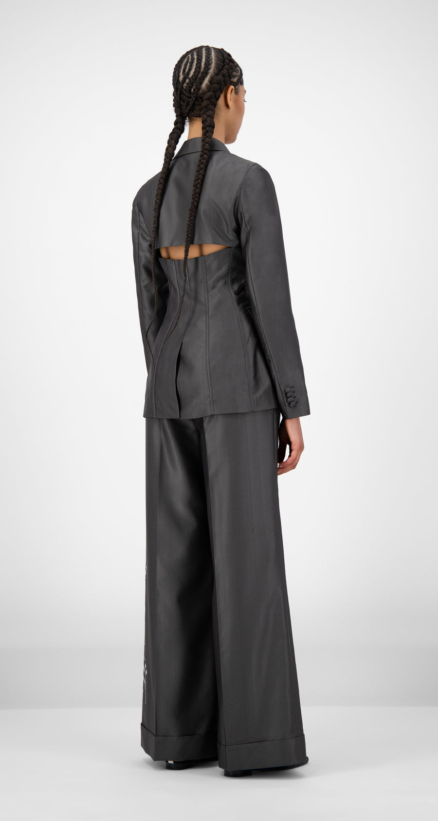 Daily Paper - Dark Grey Jazira Jacket - Women Rear