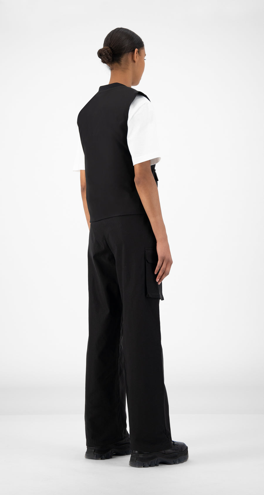 Daily Paper - Black Recargo Trackpants - Women Rear