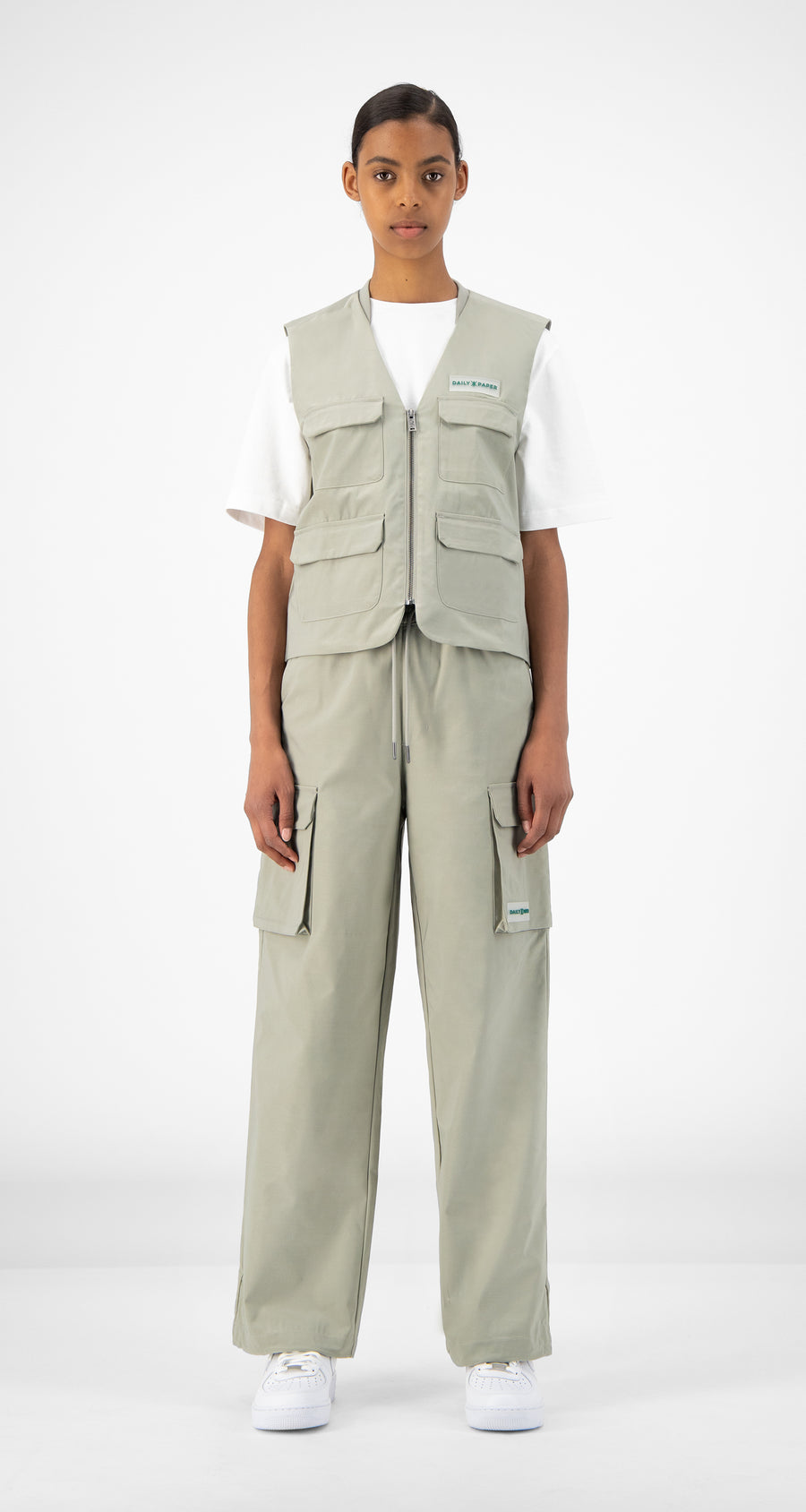Daily Paper - Mint Green Recargo Trackpants - Women Front