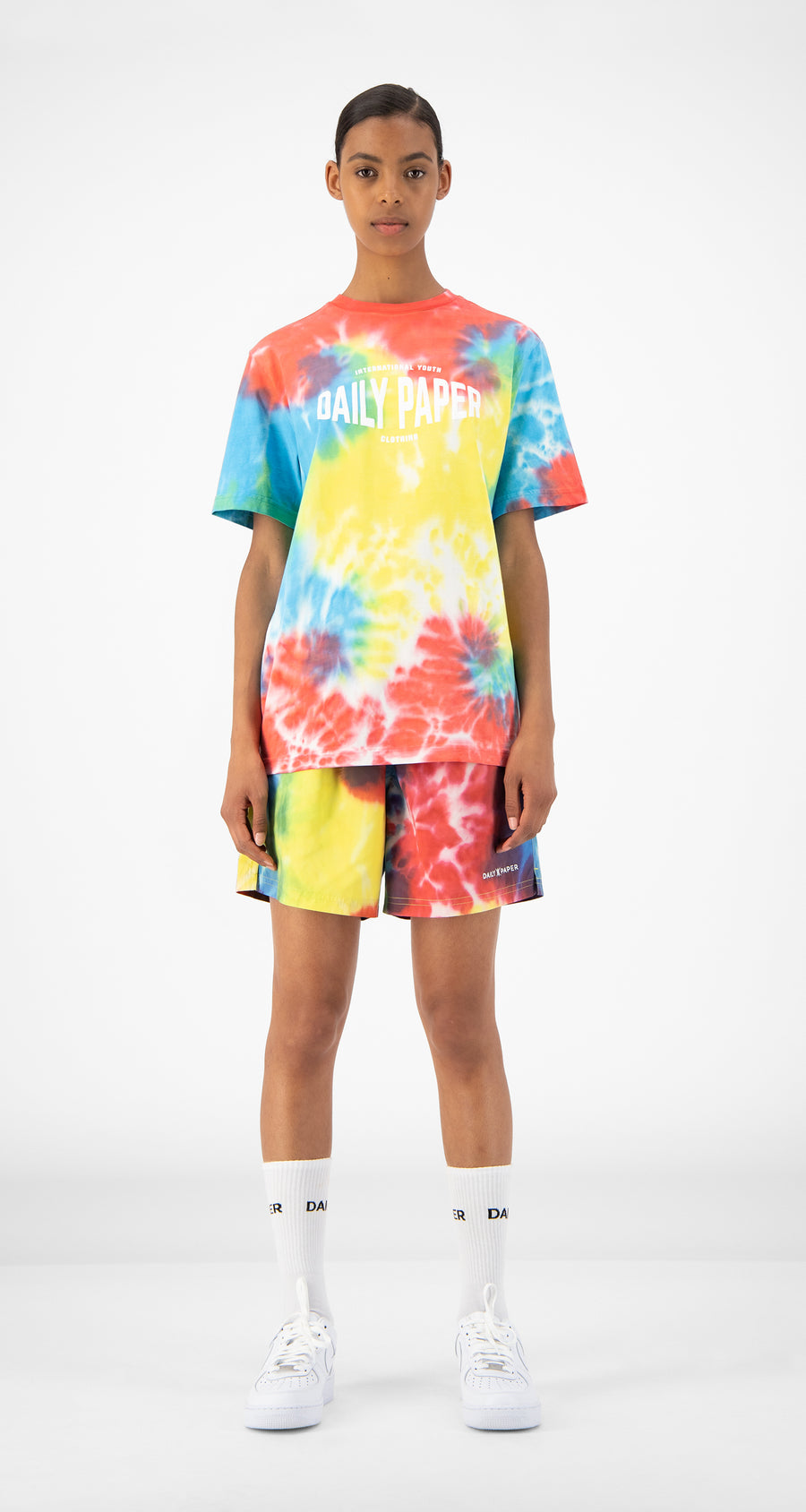 Daily Paper - Tie Dye Reprime Swim Shorts -  Women Front