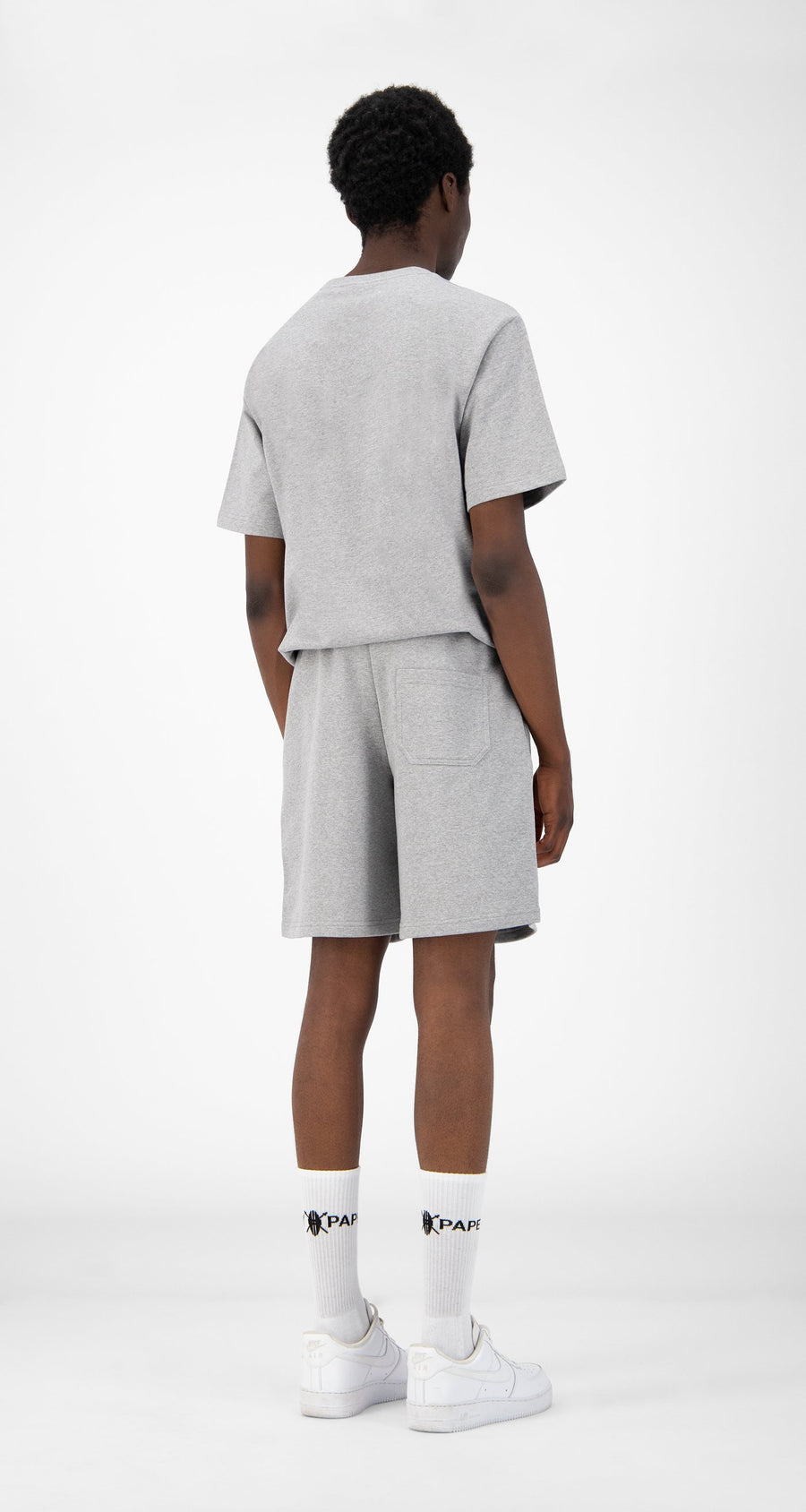 Daily Paper - Grey Refarid Shorts - Men Rear