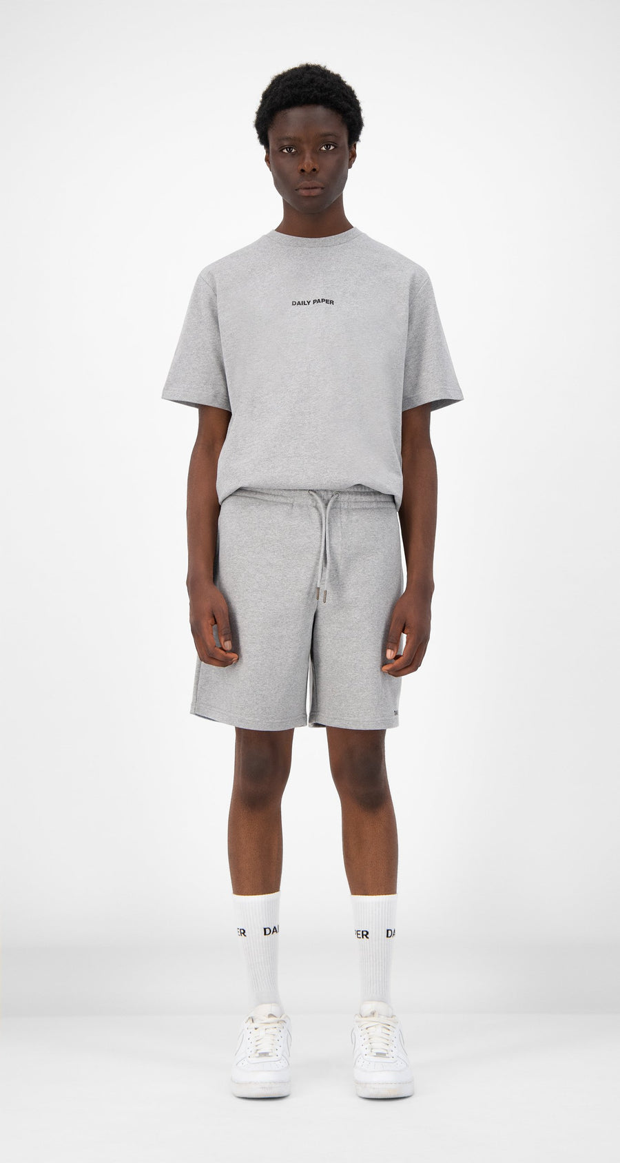 Daily Paper - Grey Refarid Shorts - Men Front