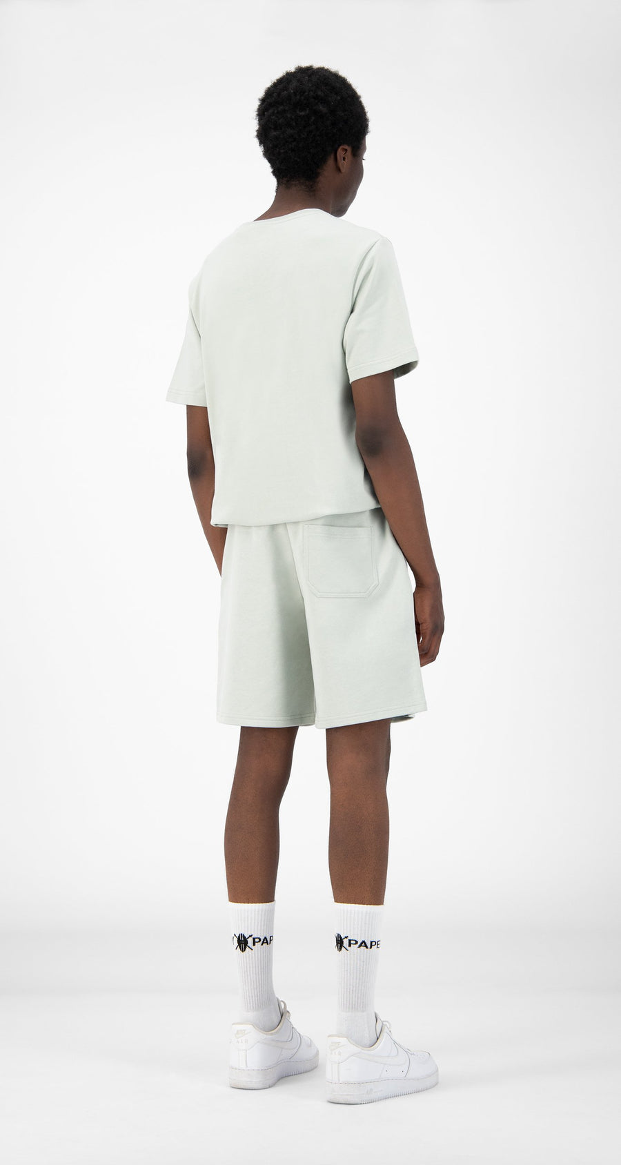 Daily Paper - Mint Green Refarid Shorts - Men Rear