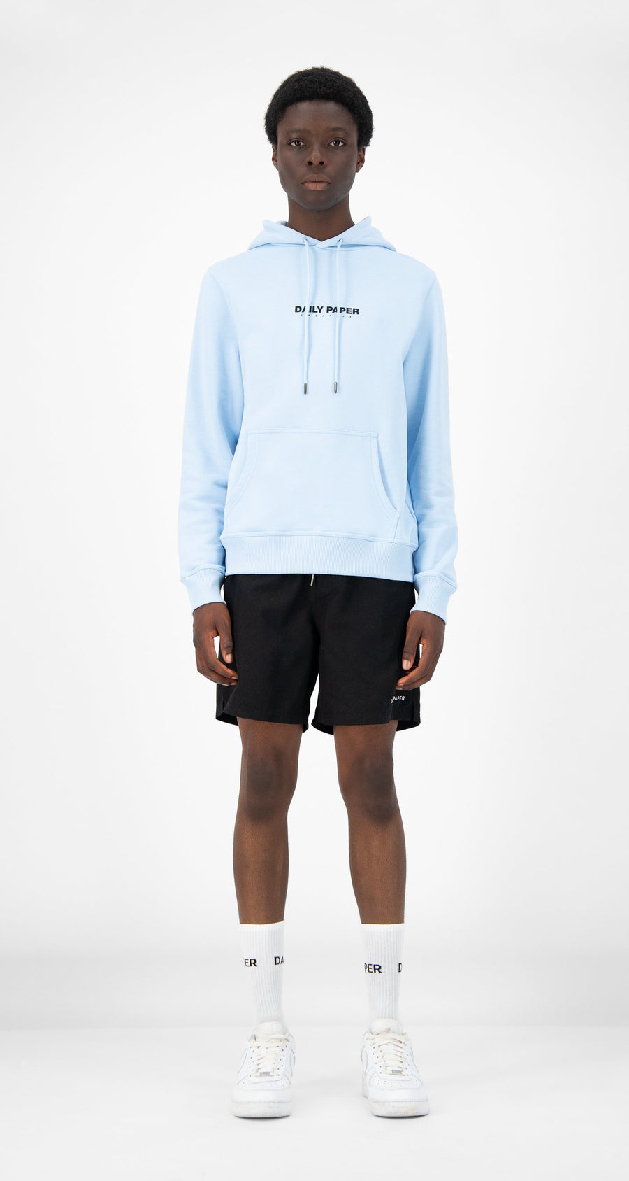Daily Paper - Light Blue Remulti Hoody - Men Front