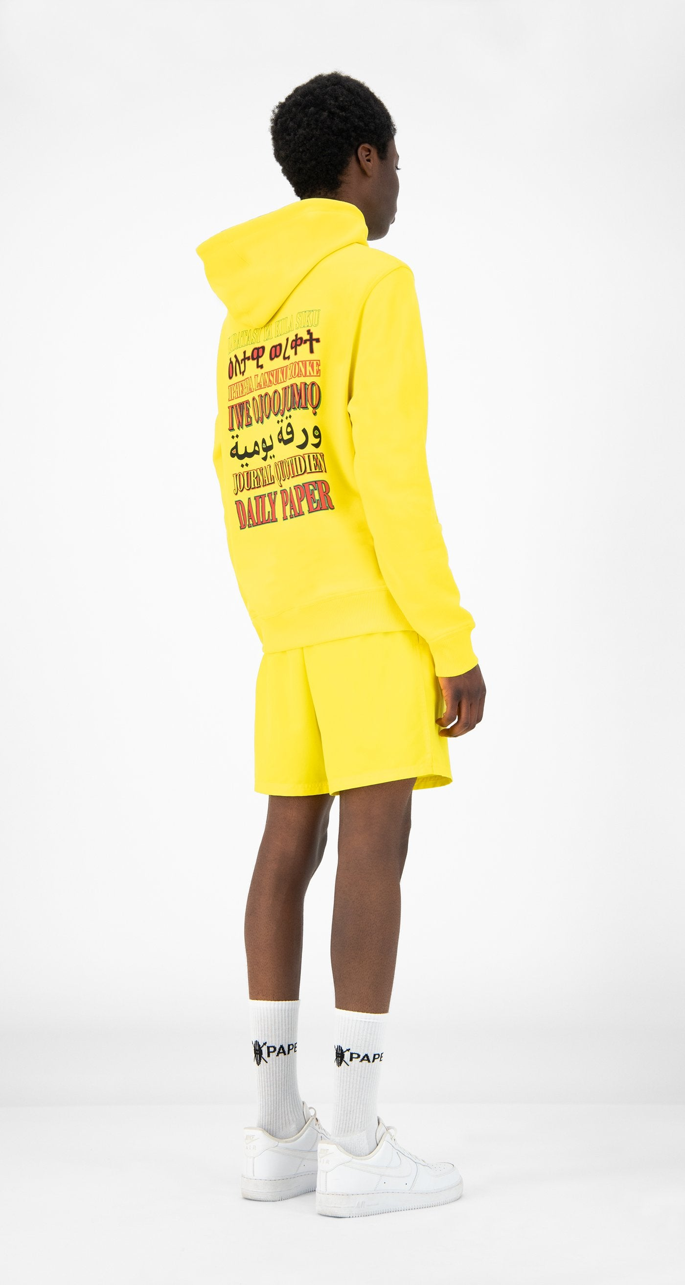 Daily Paper - Yellow Remulti Hoody - Men Rear