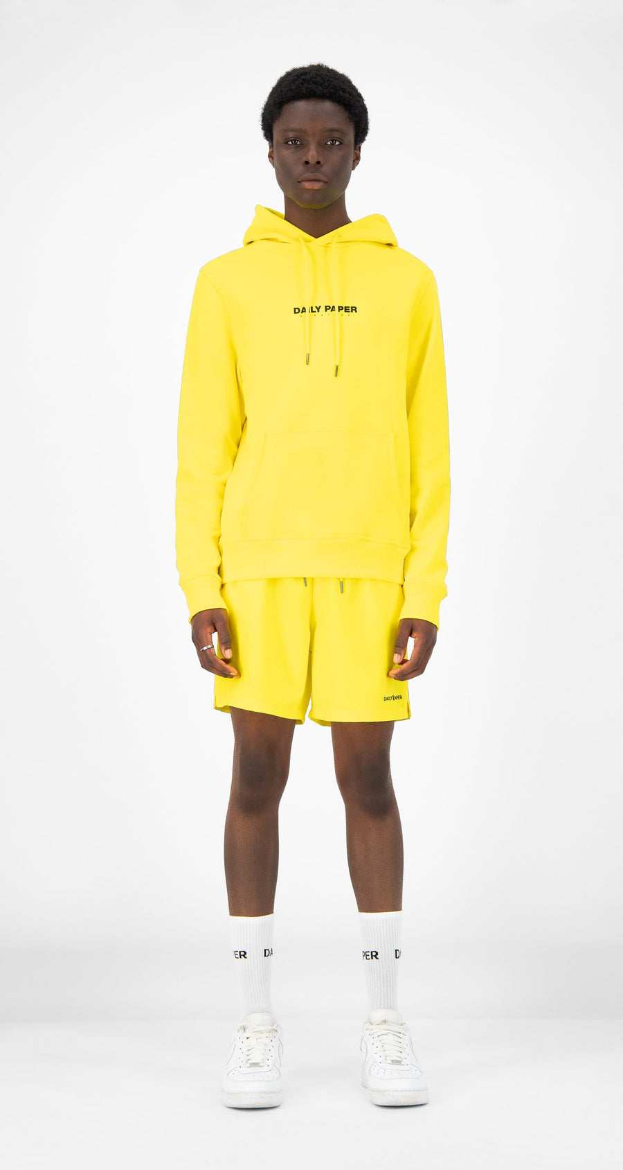 Daily Paper - Yellow Remulti Hoody - Men Front