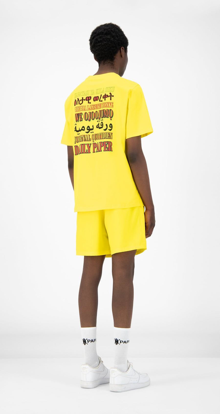 Daily Paper - Yellow Remulti T-Shirt - Men Rear
