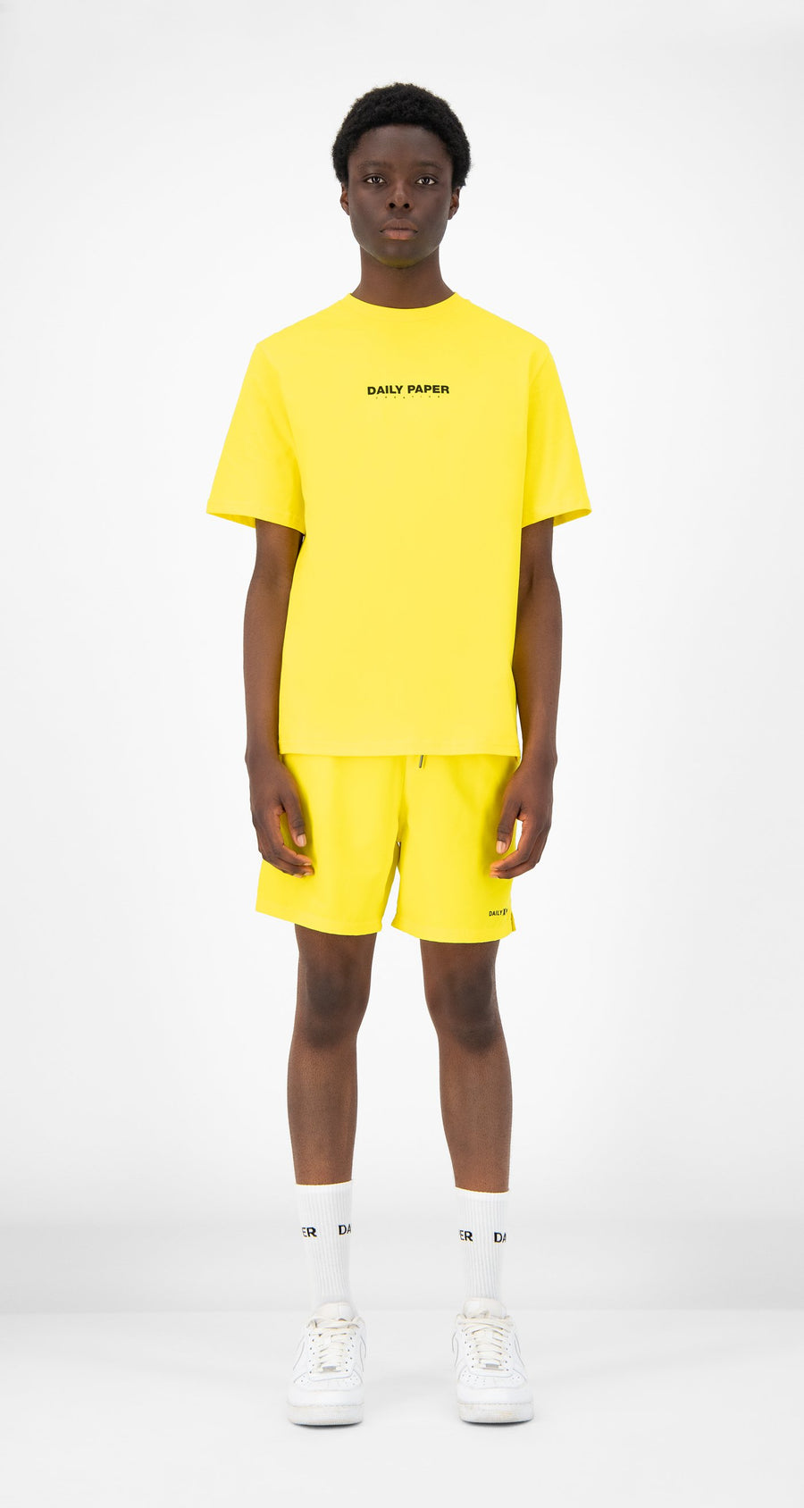 Daily Paper - Yellow Remulti T-Shirt - Men Front