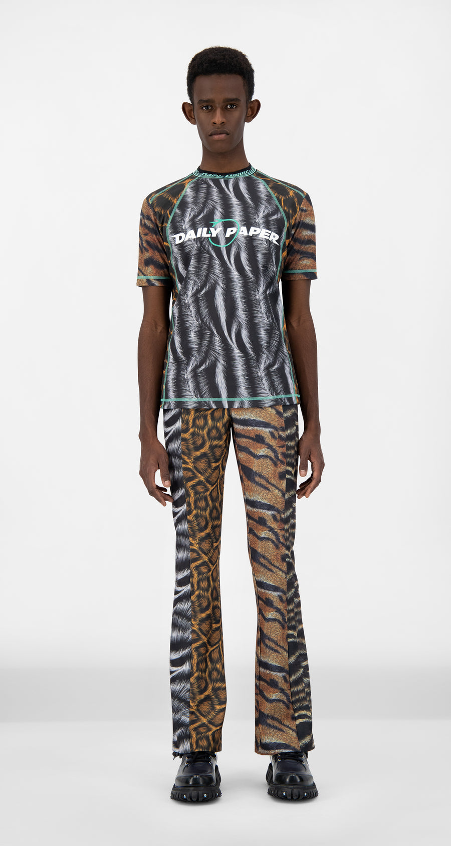 Daily Paper - Animal Print Judd T-Shirt - Men Front