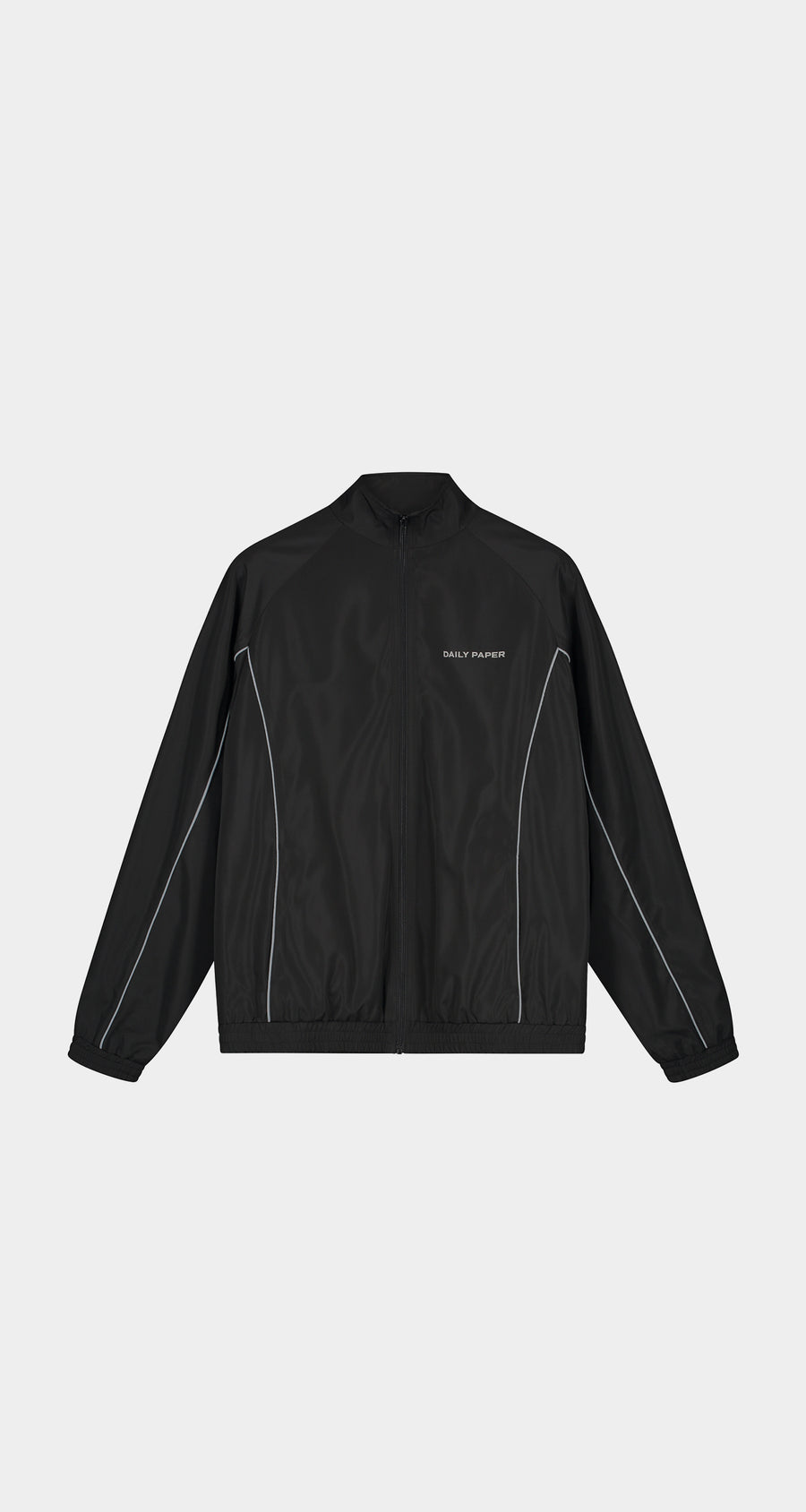 Daily Paper - Black Etrack Jacket - Men Front