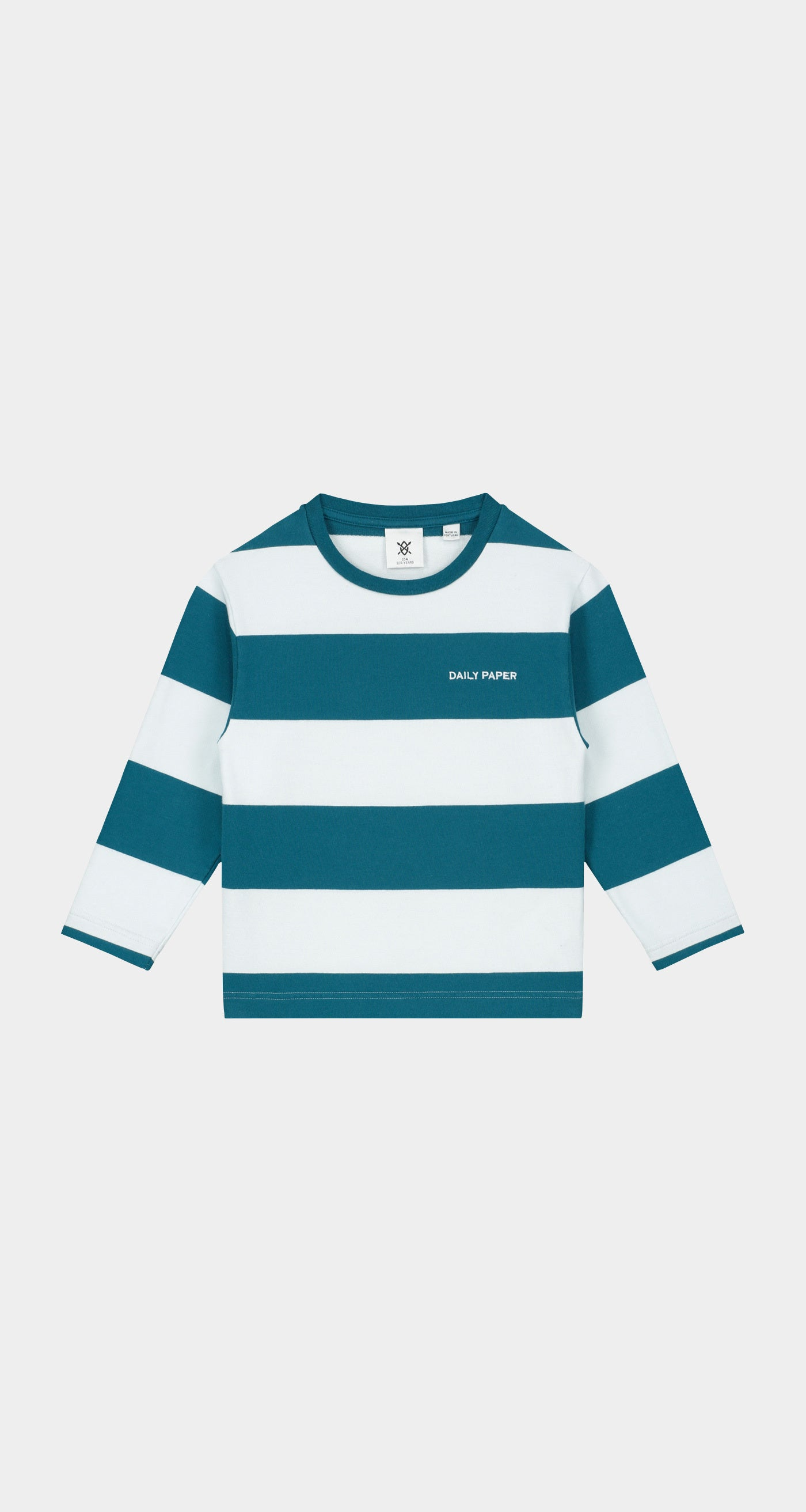 Daily Paper - Ink Blue Kids Striped Longsleeve - Front