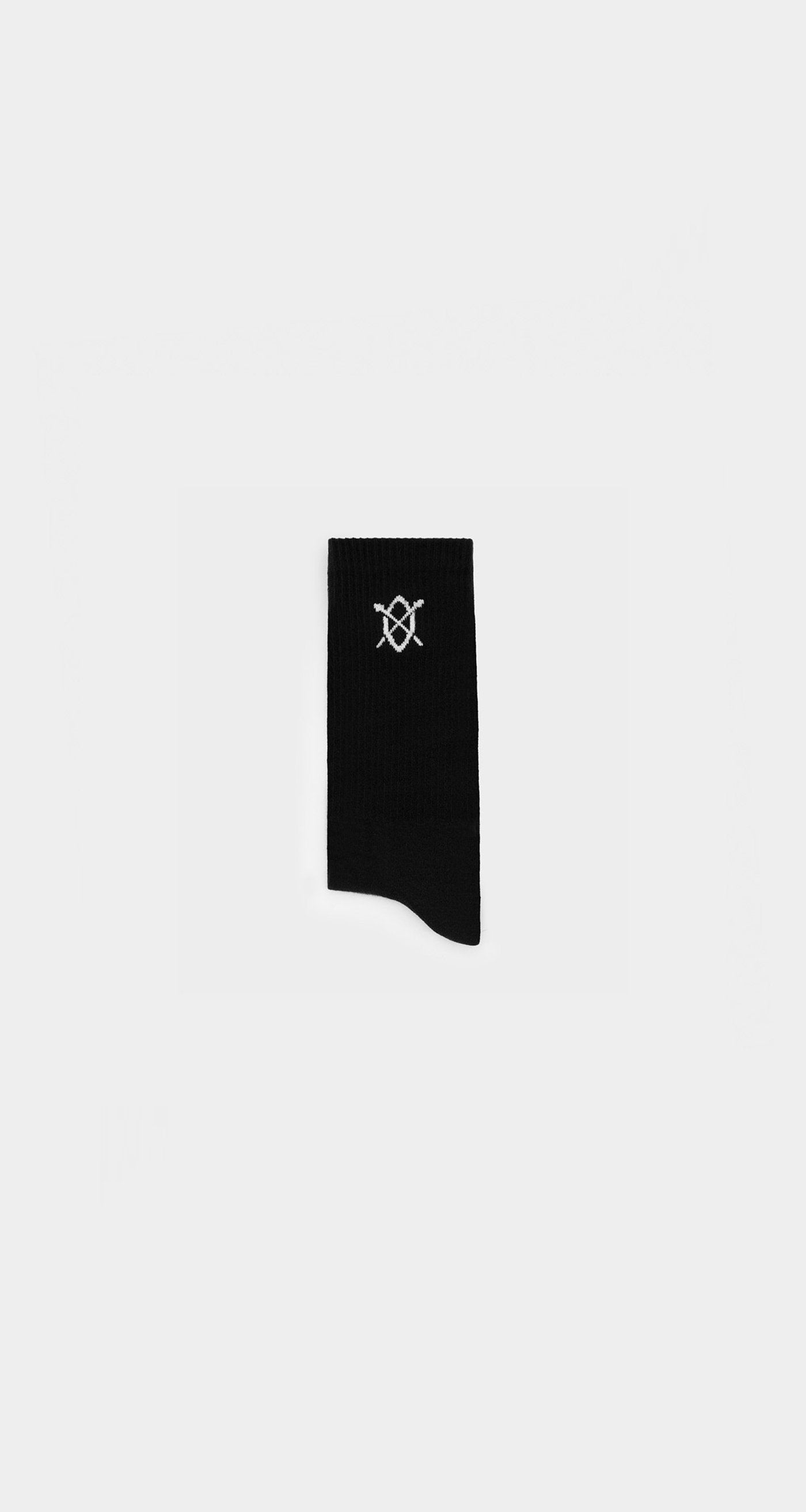 Daily Paper - Black Essential Logo Sock - Rear