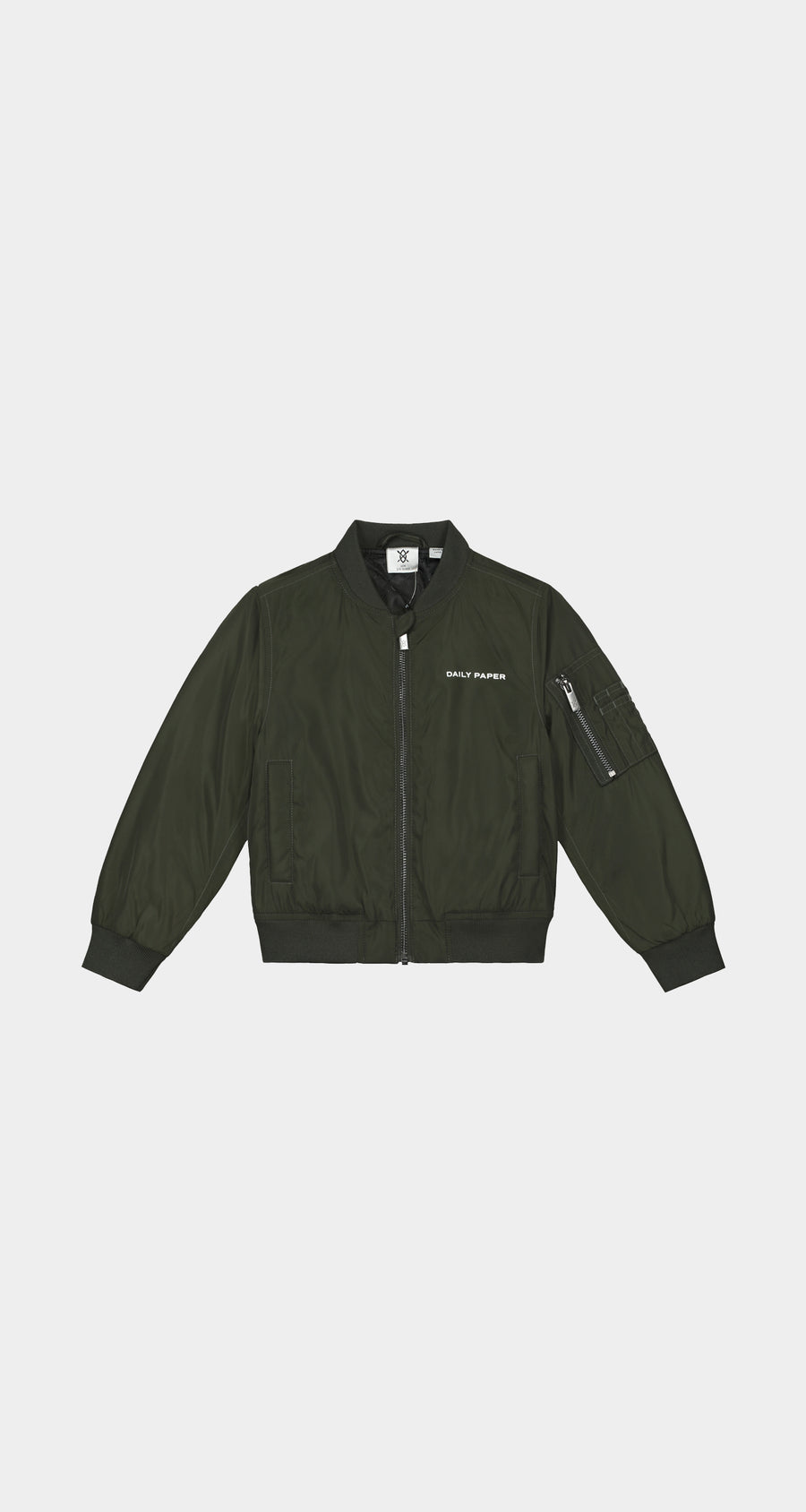 Daily Paper - Green Kids Bomber Jacket - Front