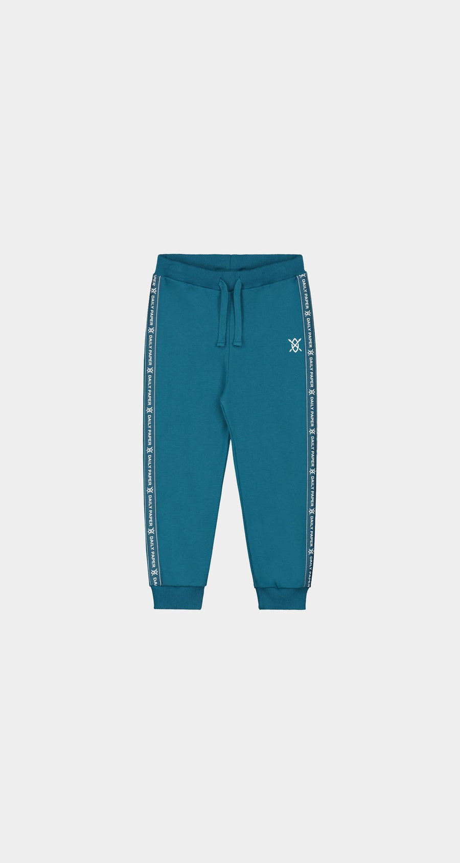 Daily Paper - Ink Blue Kids Tape Logo Pants - Front