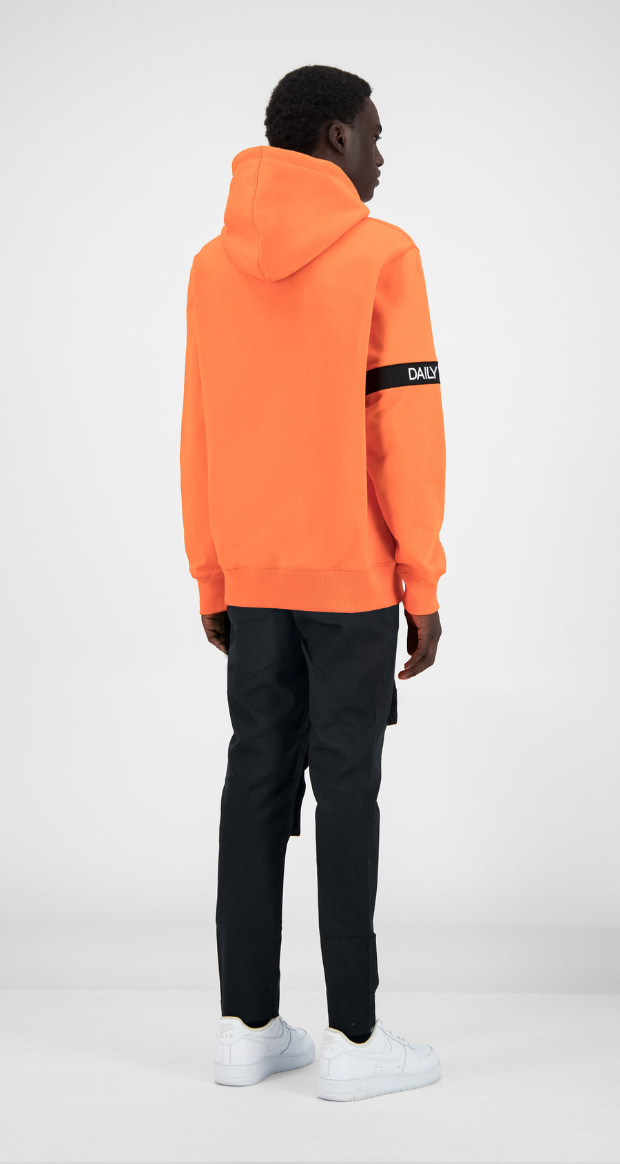 Daily Paper - Flame Orange Caption Hoody - Men Rear
