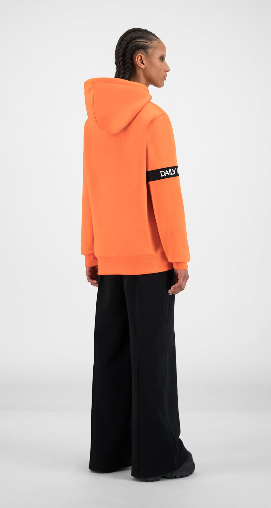 Daily Paper - Flame Orange Caption Hoody - Women Rear
