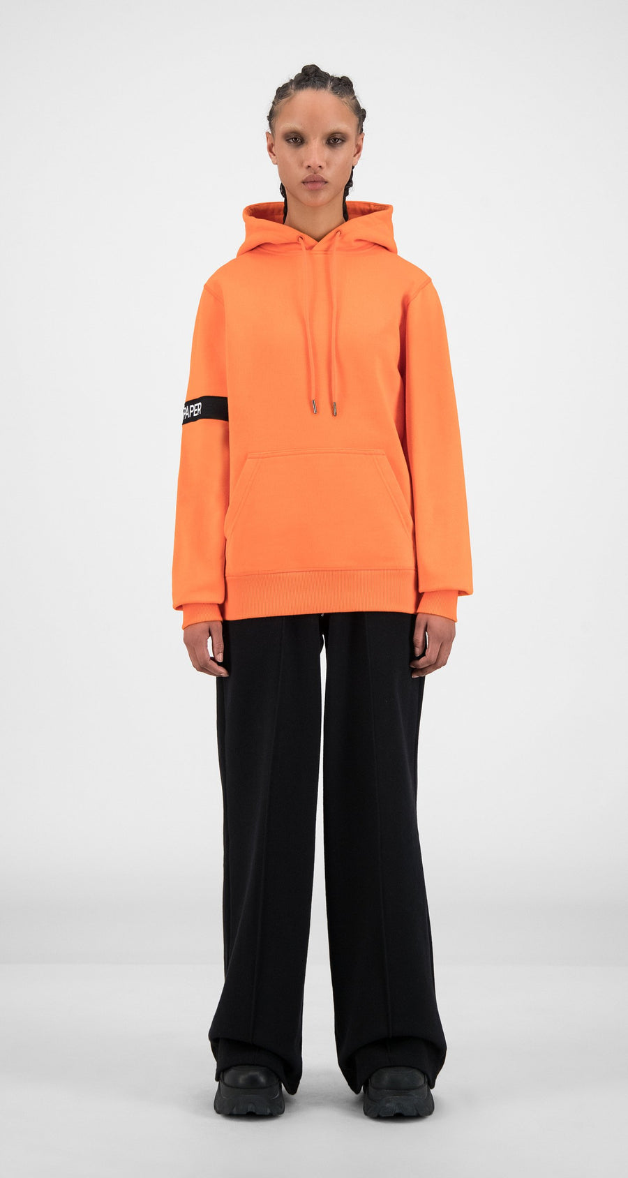 Daily Paper - Flame Orange Caption Hoody - Women Front