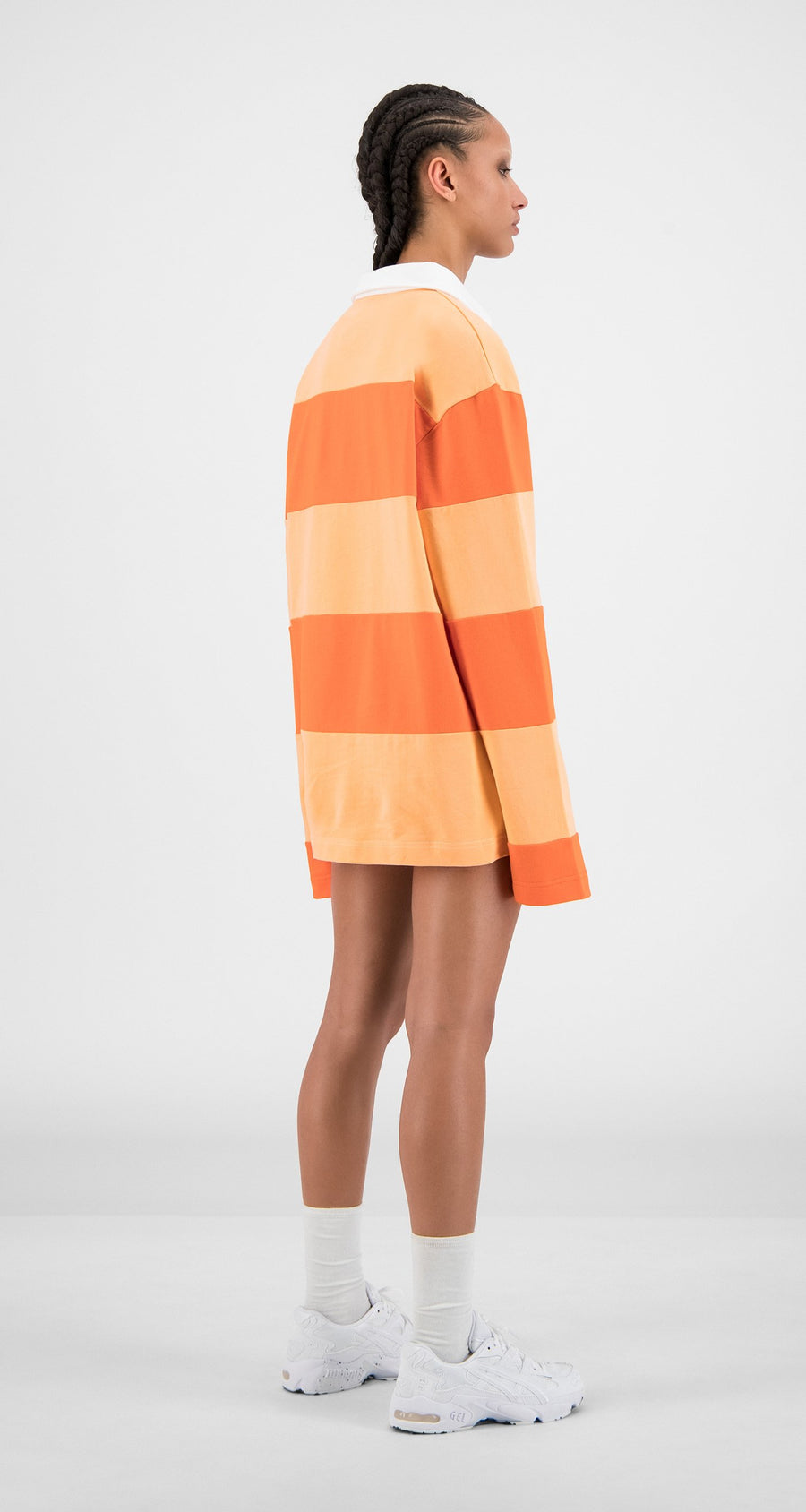Daily Paper - Flame Orange Stripe Apolo - Women Rear